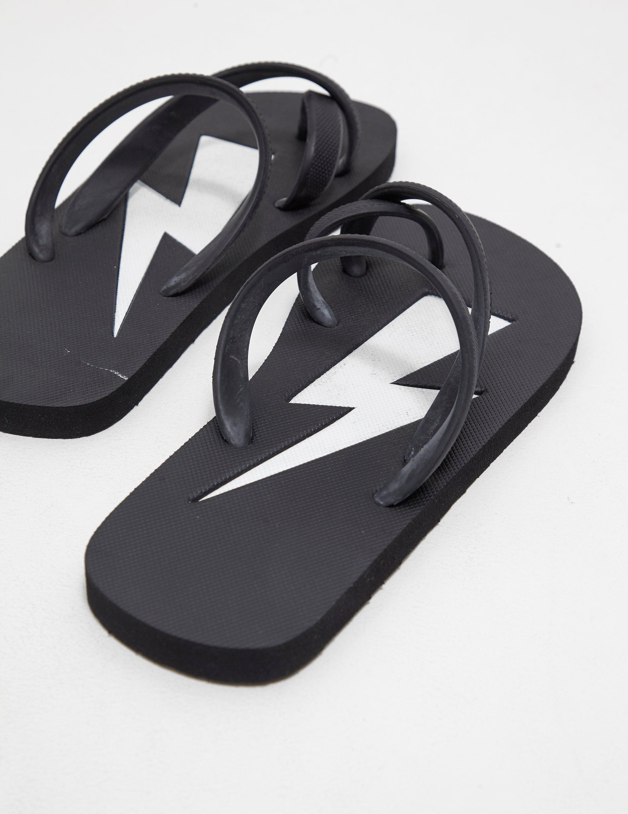 Neil Barrett Bolt Flip Flops - Online Exclusive