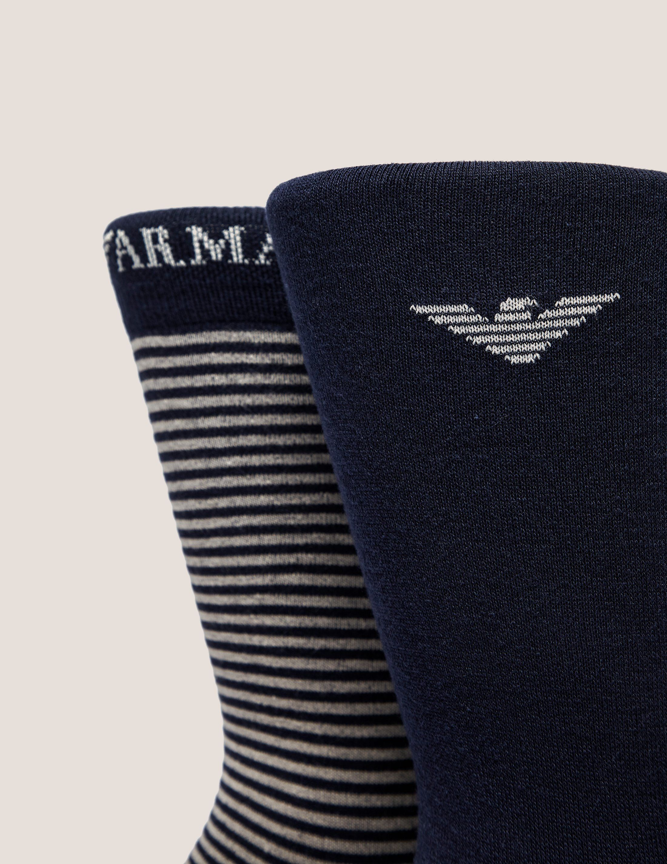 Emporio Armani 2-Pack Stripe Socks