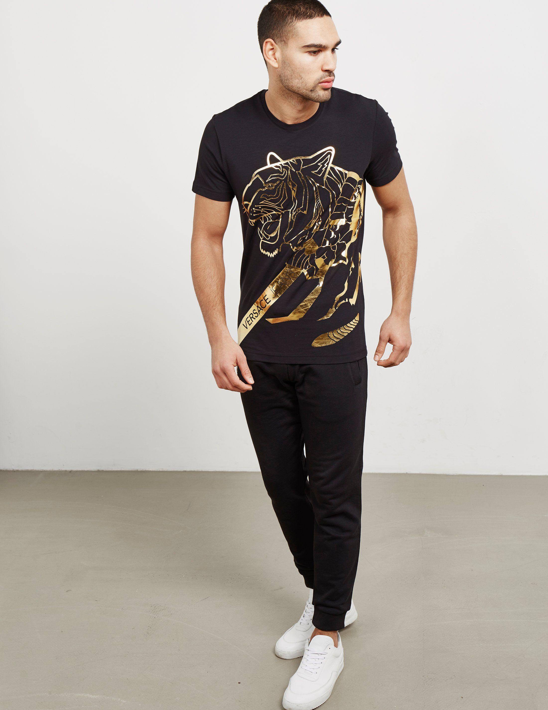 Versace Foil Tiger Short Sleeve T-Shirt