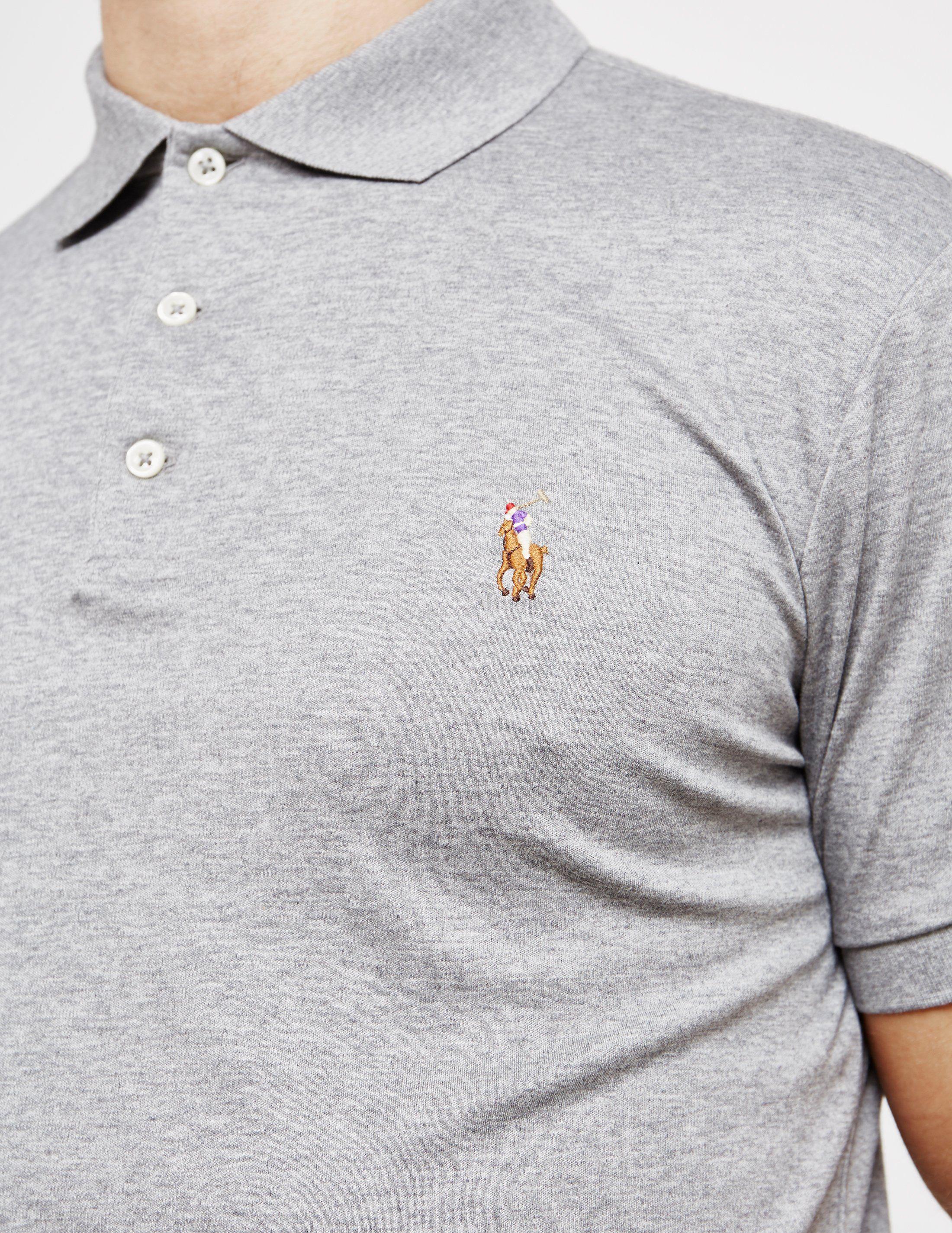 Polo Ralph Lauren Plain Pima Short Sleeve Polo Shirt