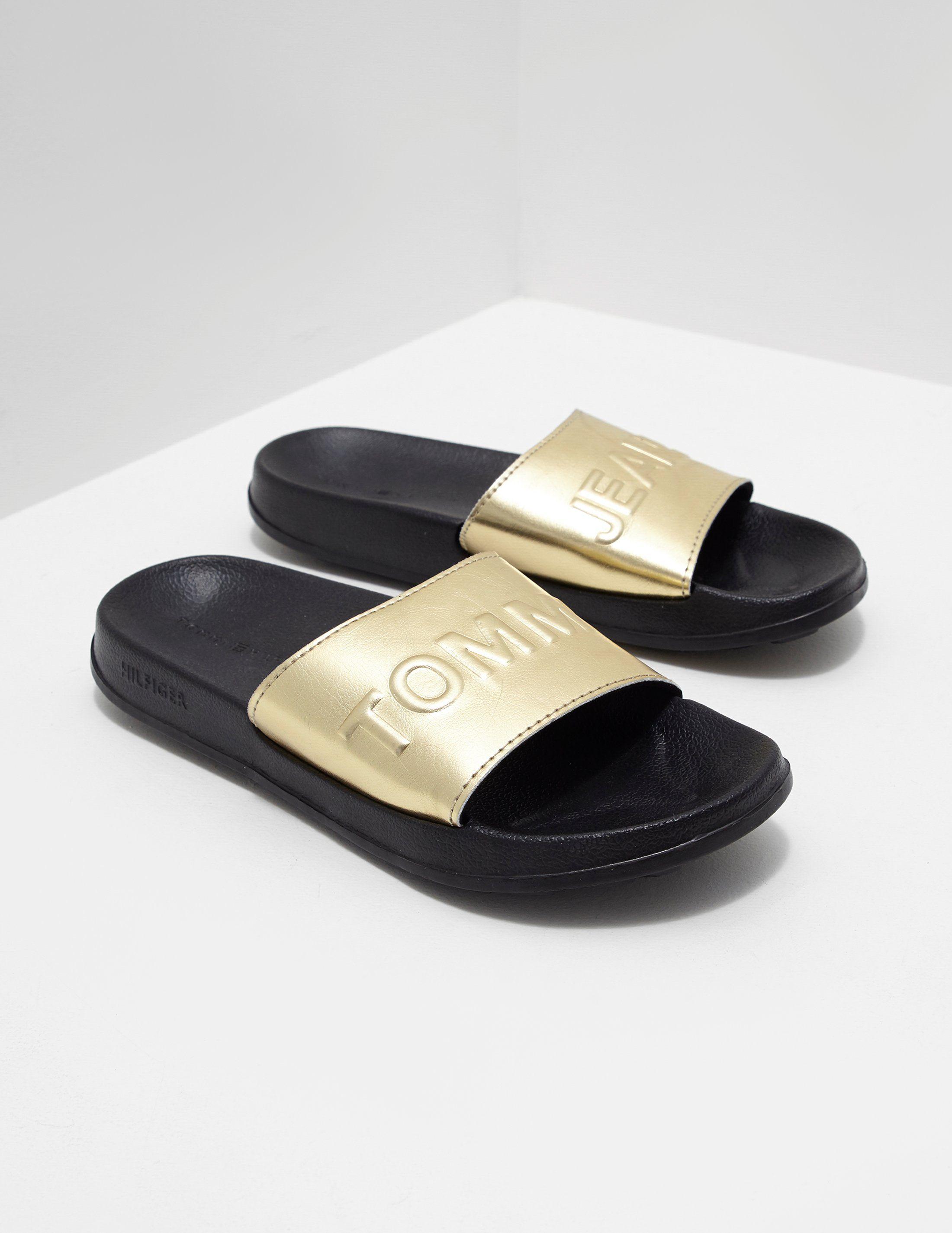 Tommy Jeans Metallic Pool Slides