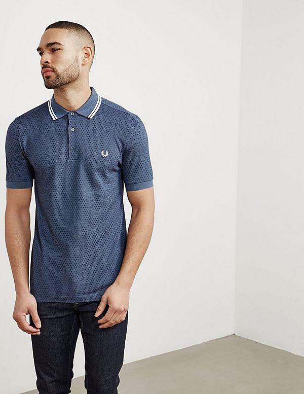 Geo Print Short Sleeve Polo