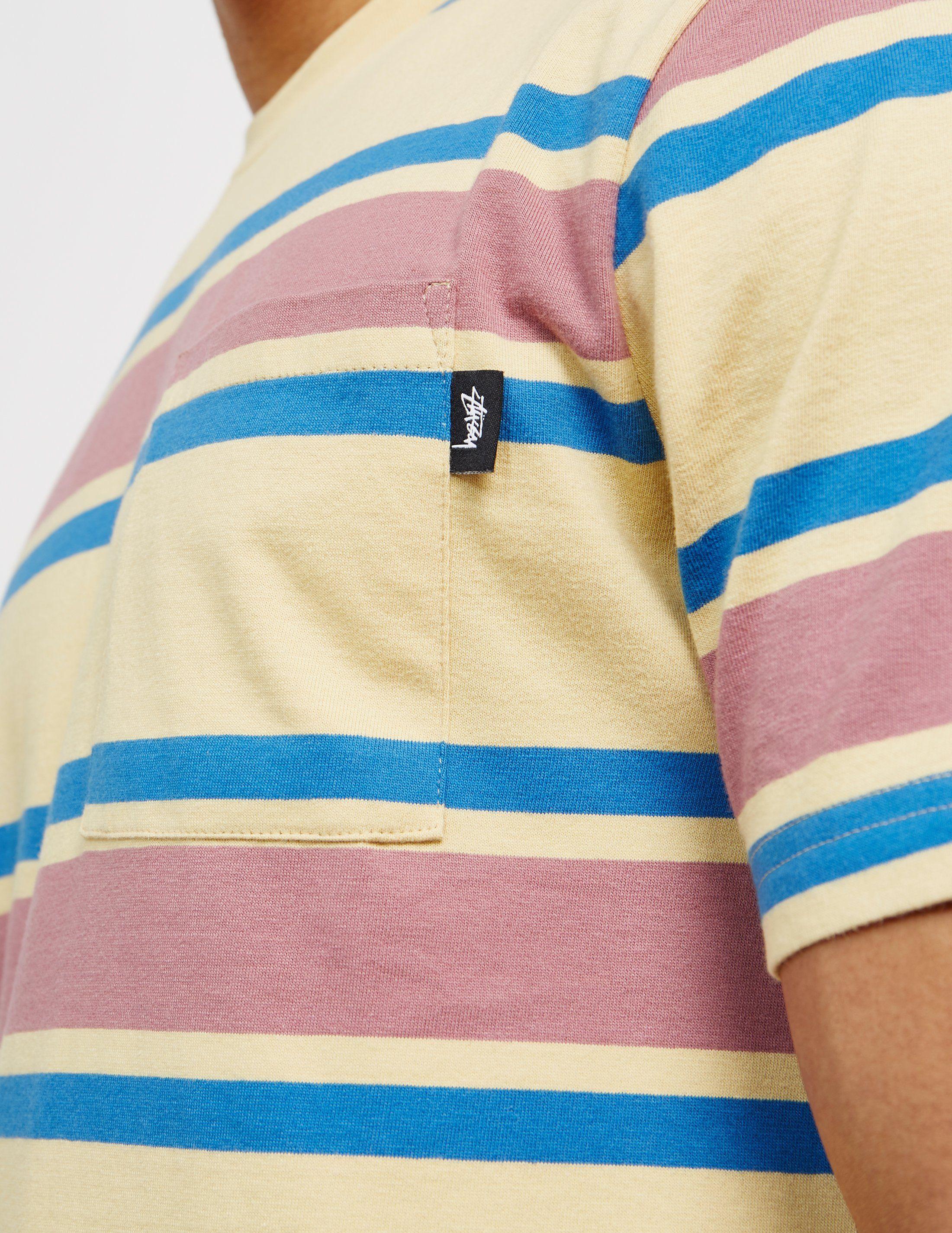 Stussy Stripe Short Sleeve T-Shirt - Online Exclusiv