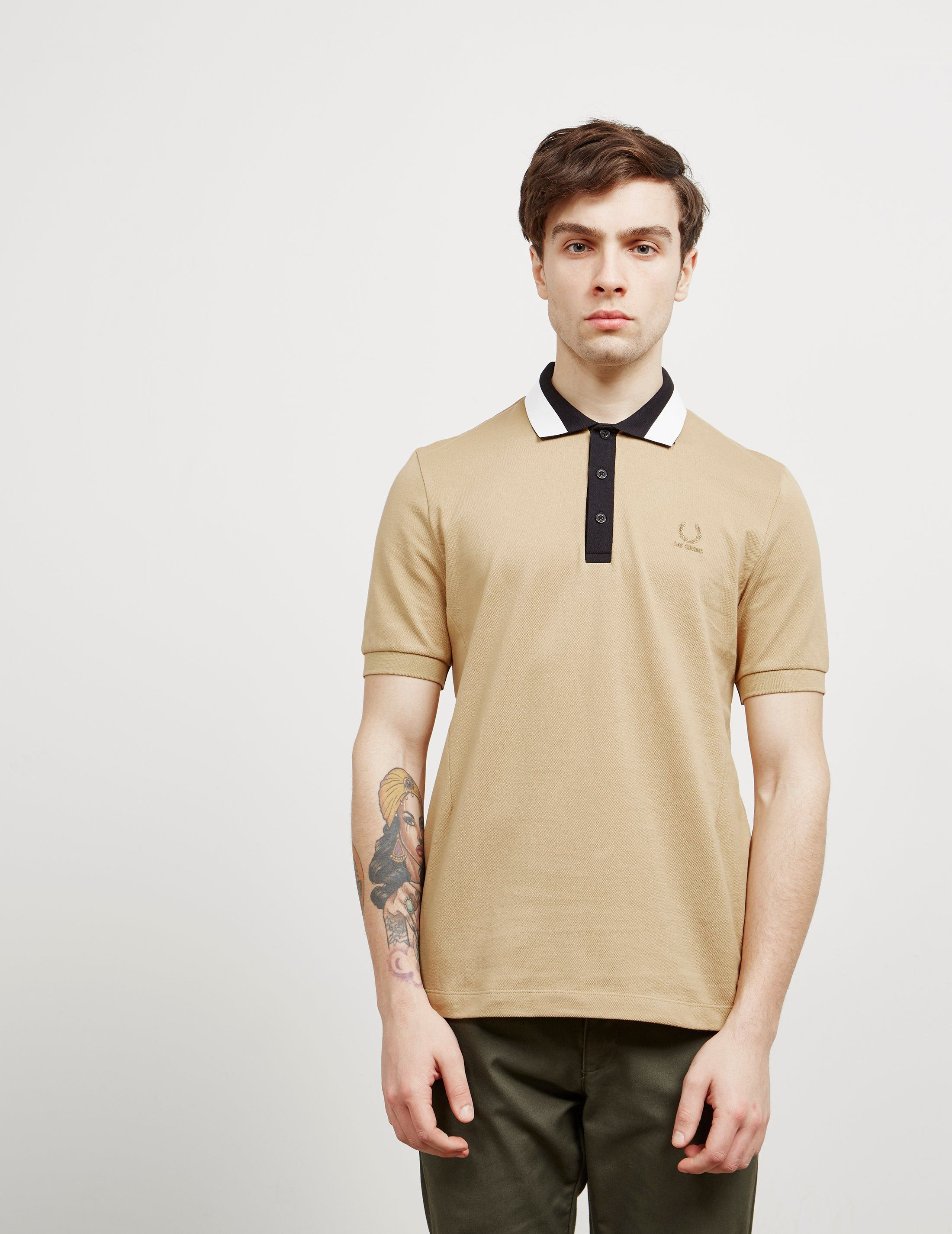 Fred Perry x Raf Simons Taped Collar Short Sleeve Polo Shirt