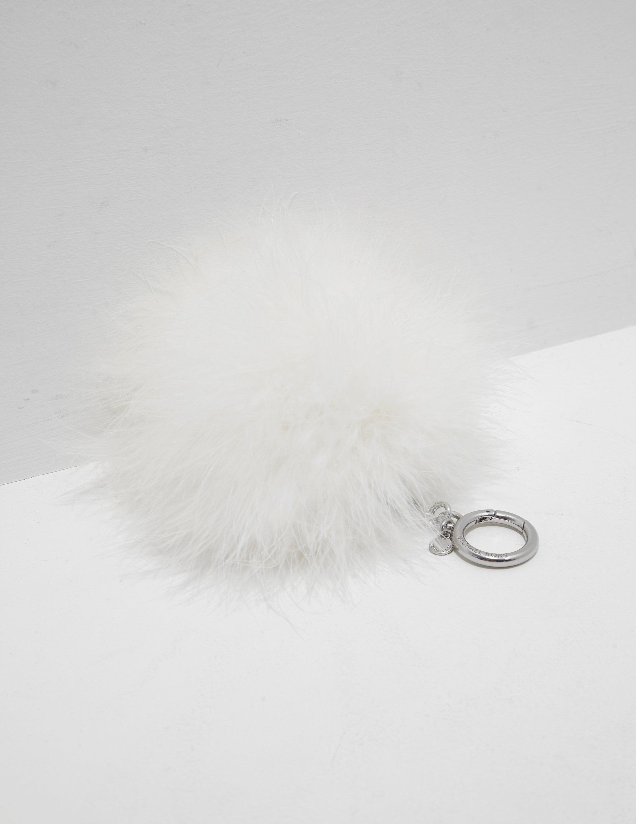 Michael Kors Feather Pom Pom Keyring