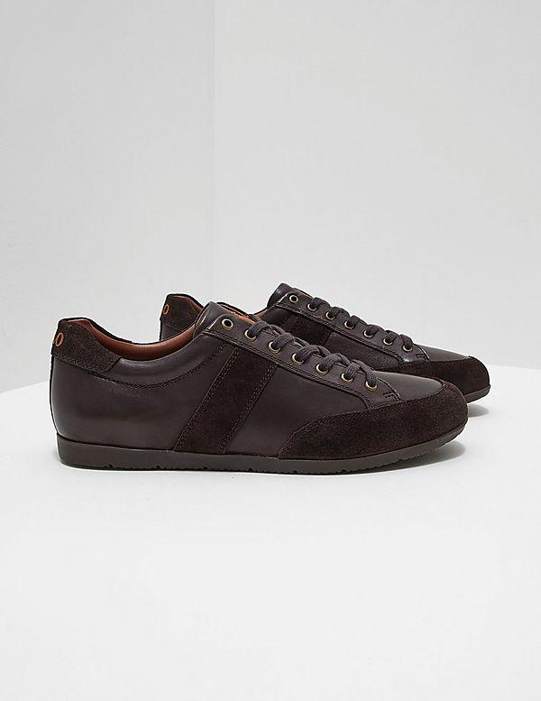 Polo Ralph LaurenPRICE - Trainers - dark brown/dark brown WbY3TpsP