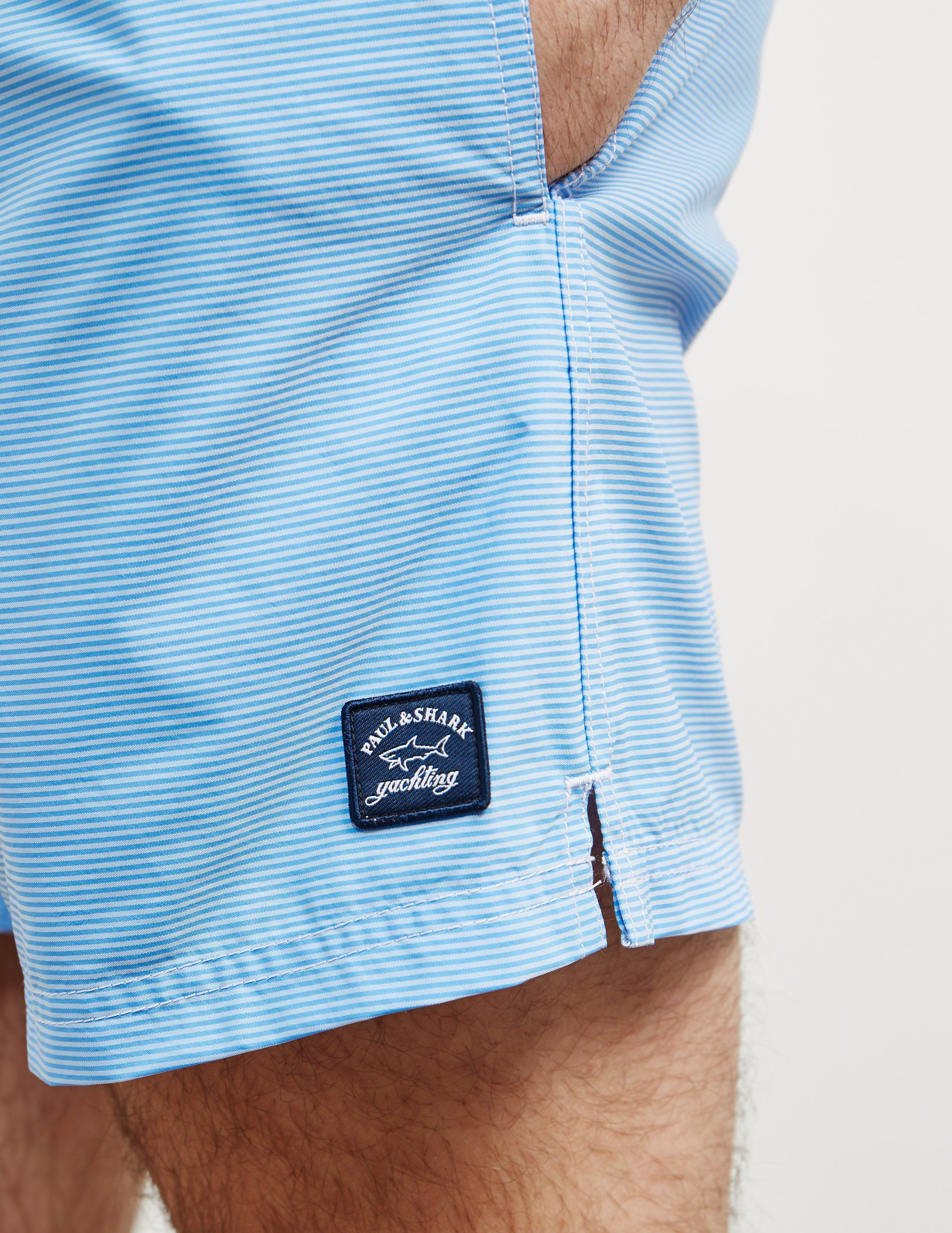 Paul and Shark Stripe Swim Shorts - Online Exclusive