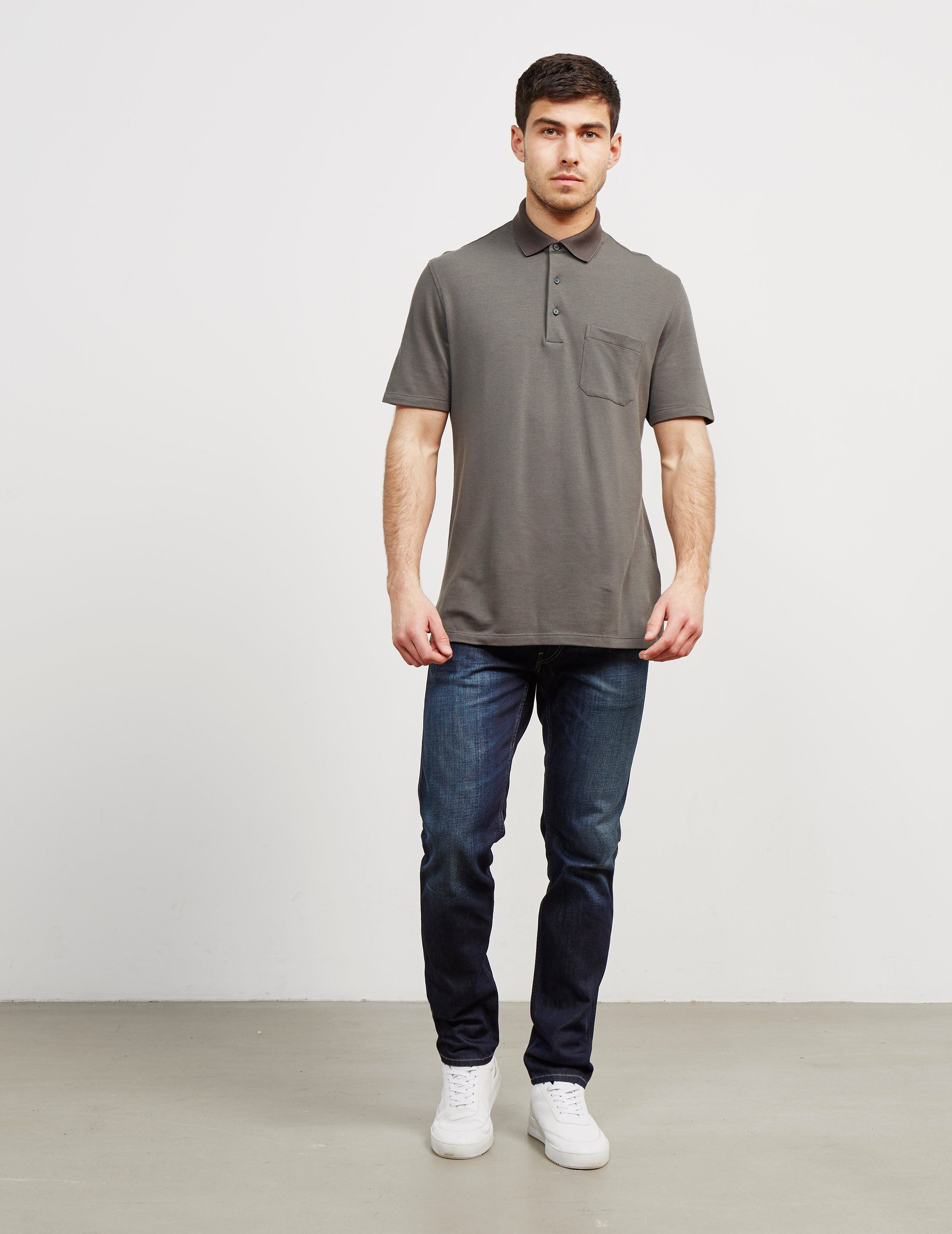 Z Zegna Pocket Short Sleeve Polo Shirt