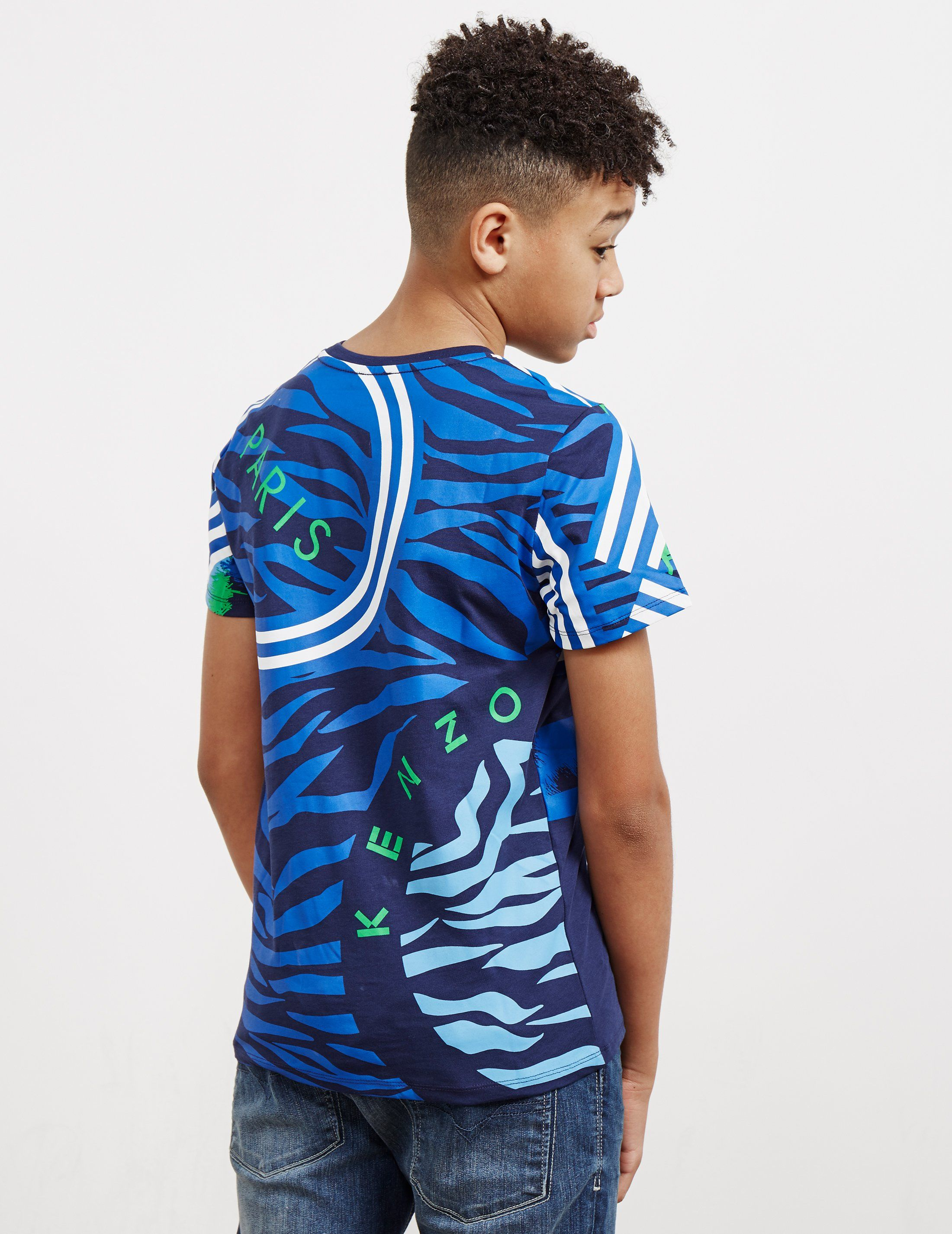 KENZO Abstract Tiger Short Sleeve T-Shirt
