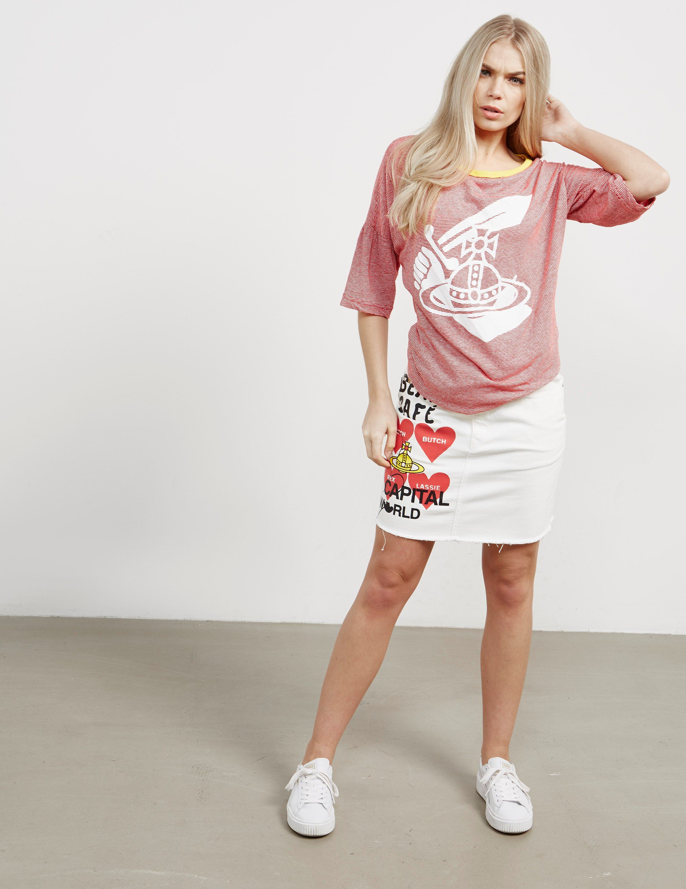 Vivienne Westwood Anglomania Midling Orb Short Sleeve T-Shirt