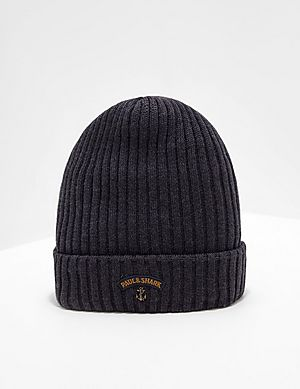 Paul and Shark Ribbed Knitted Logo Beanie ... fc59d4a5895