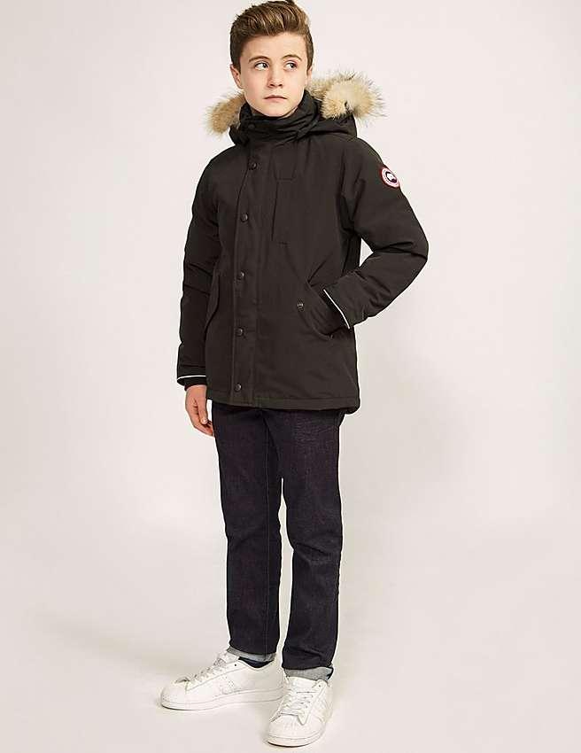 ce24d307f814 Canada Goose Boys  Logan Parka - Sizes Xs-xl - Black