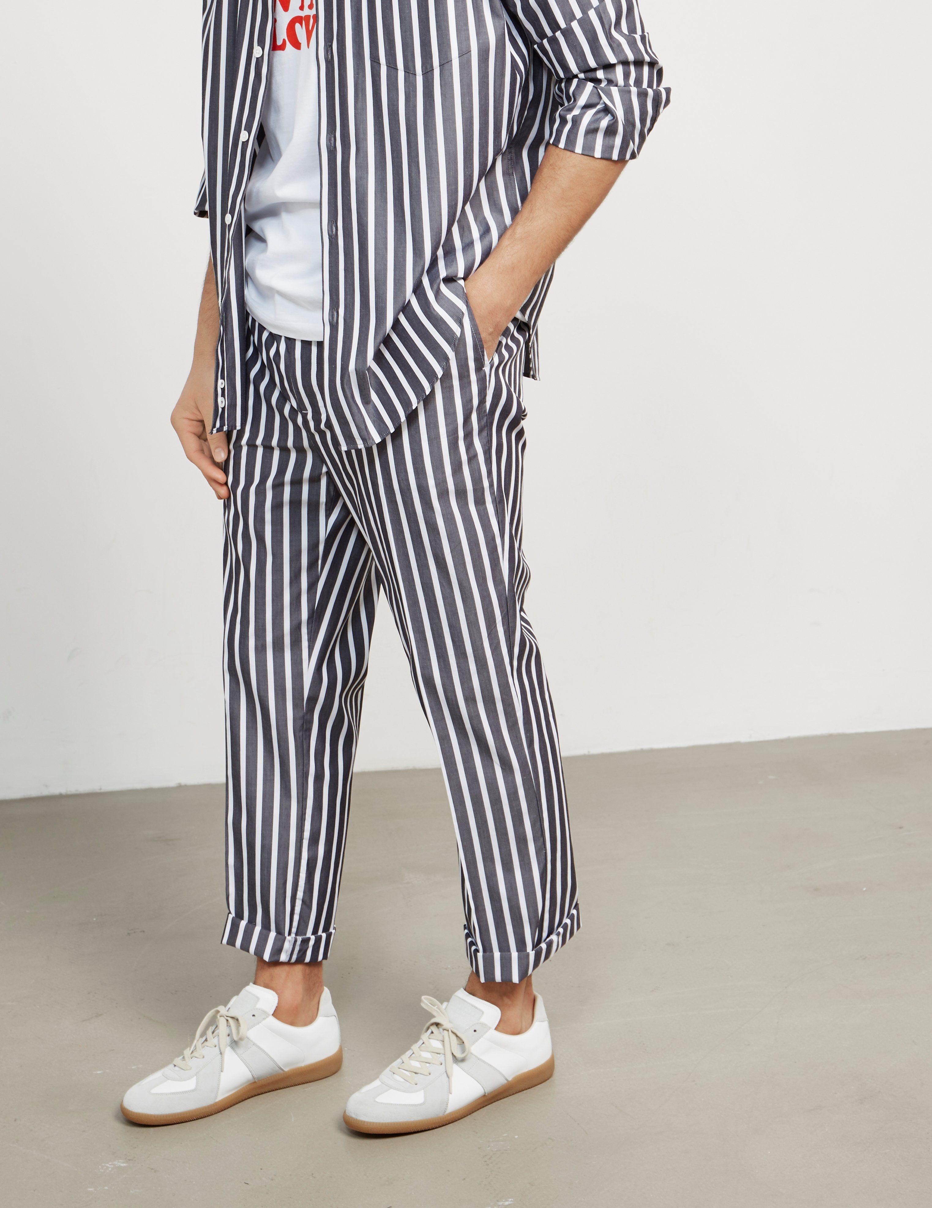 AMI Paris Striped Trousers - Online Exclusive
