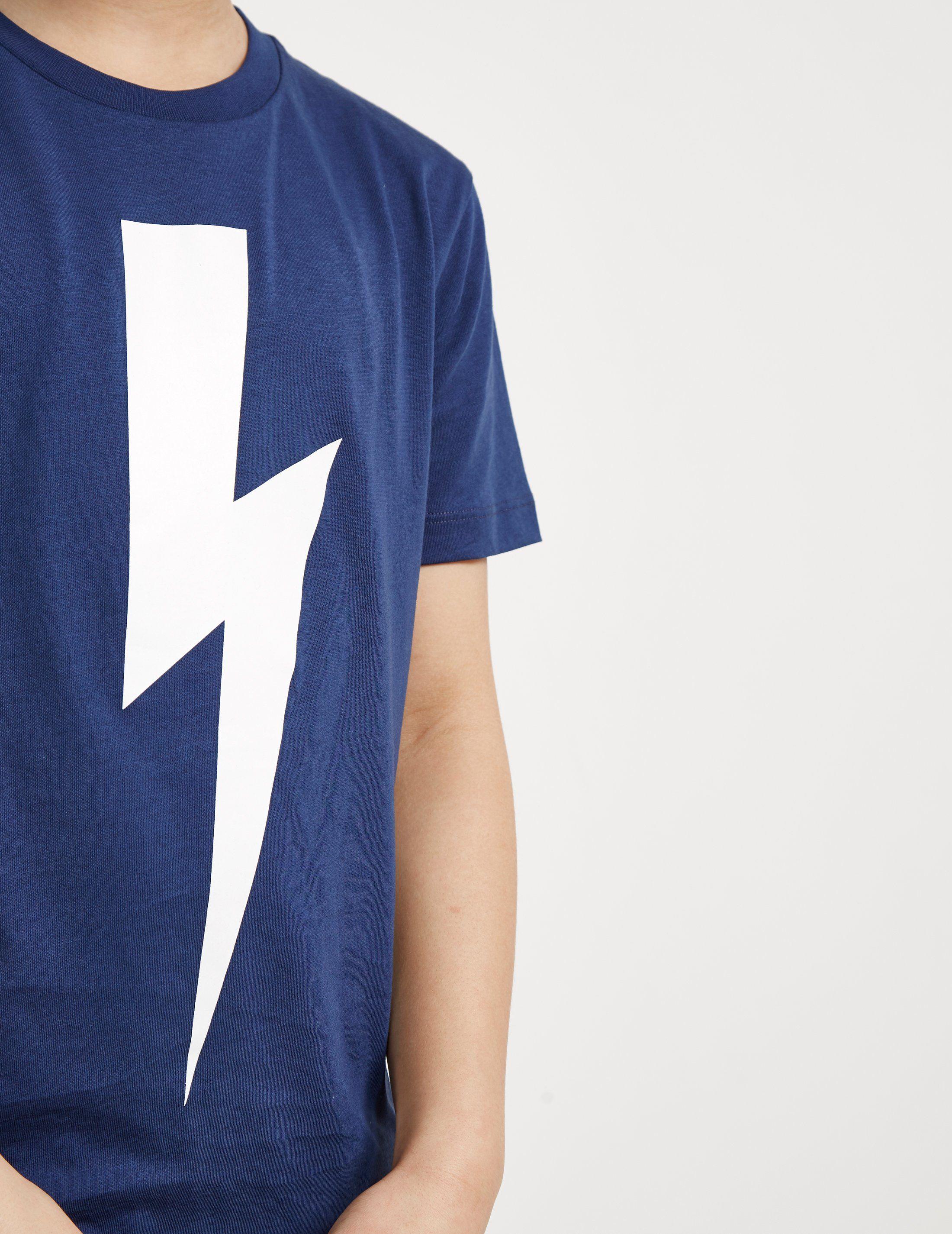 Neil Barrett Large Bolt Logo Short Sleeve T-Shirt