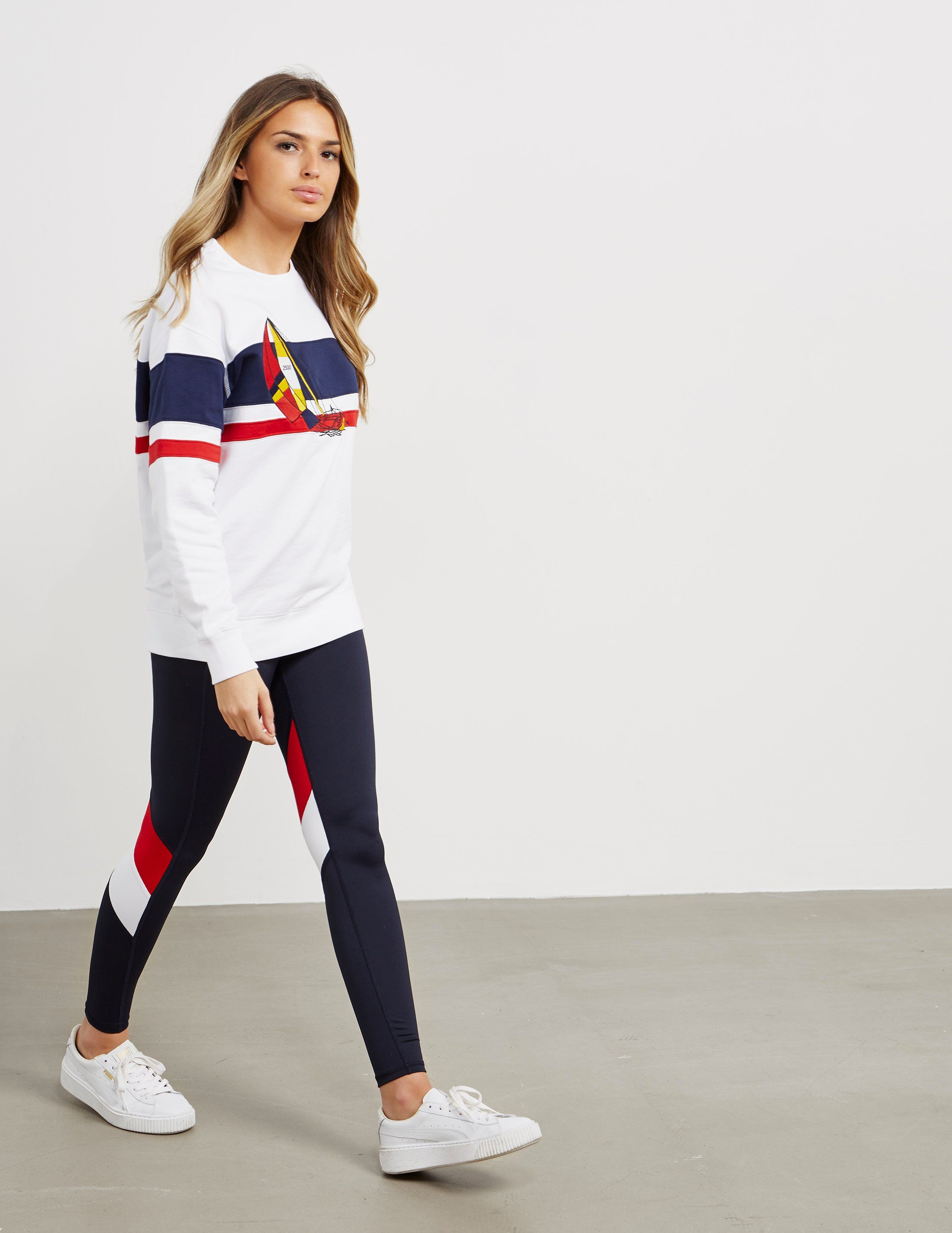Polo Ralph Lauren CP-93 Sail Stripe Sweatshirt - Online Exclusive