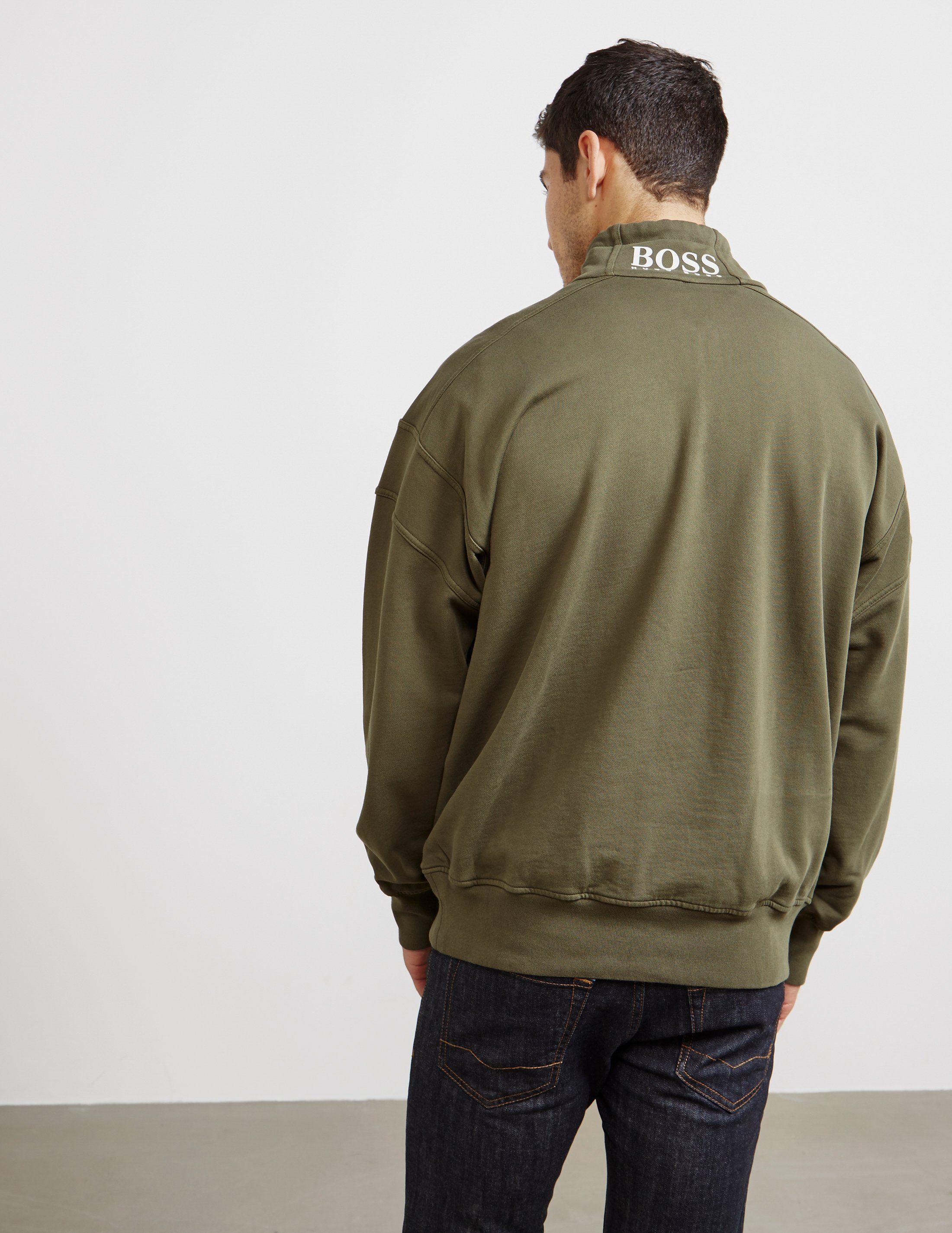 BOSS Ztallone Half Zip Fleece Track Top