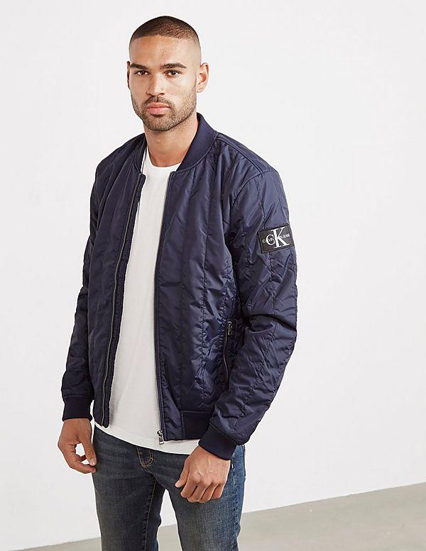Calvin Klein Double Quilted Nylon Bomber Jacket Tessuti