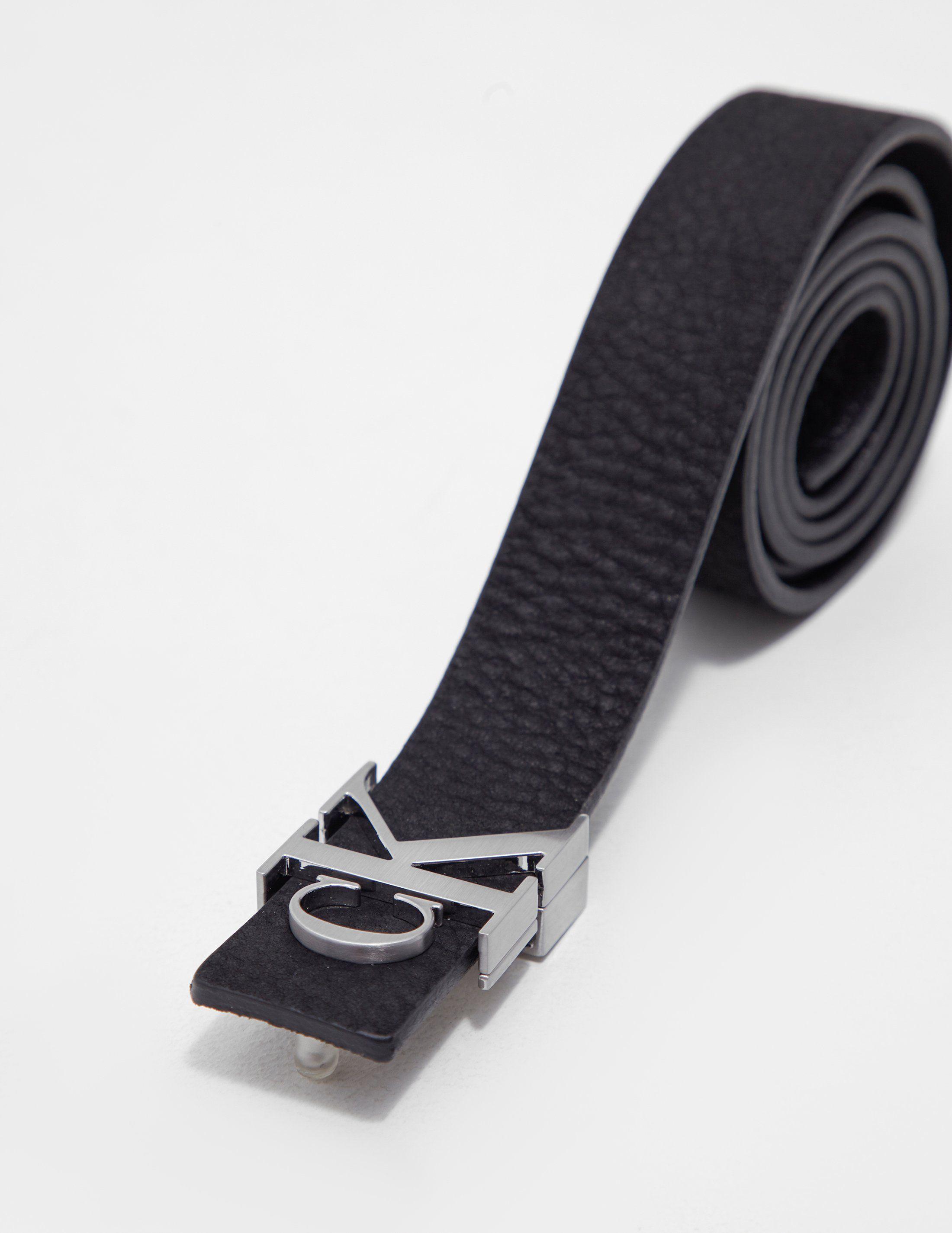 Calvin Klein Monogram Leather Belt