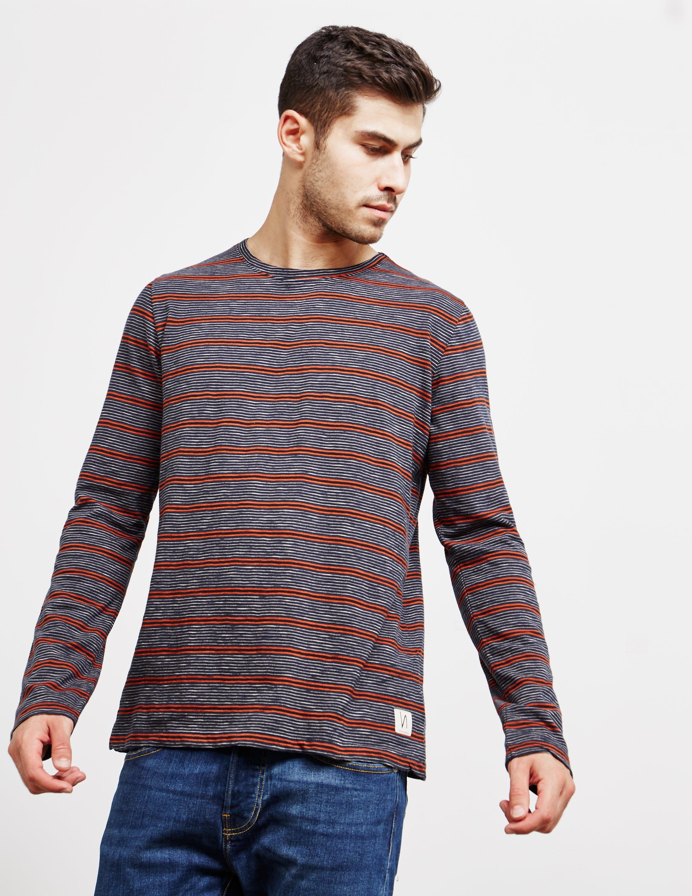 Nudie Jeans Mix Stripe Long Sleeve T-Shirt - Online Exclusive