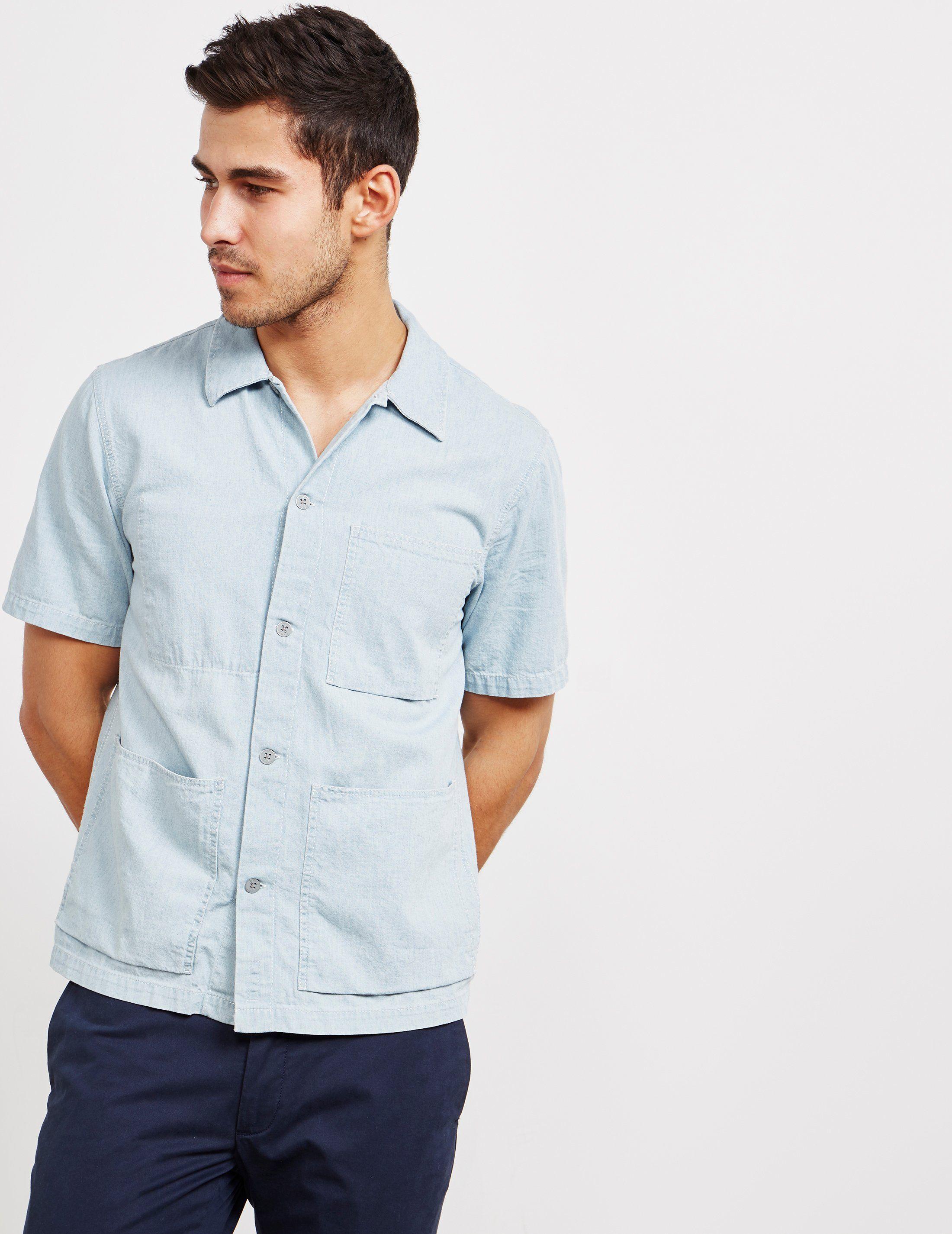 Nudie Jeans Denim Worker Short Sleeve Shirt - Online Exclusive