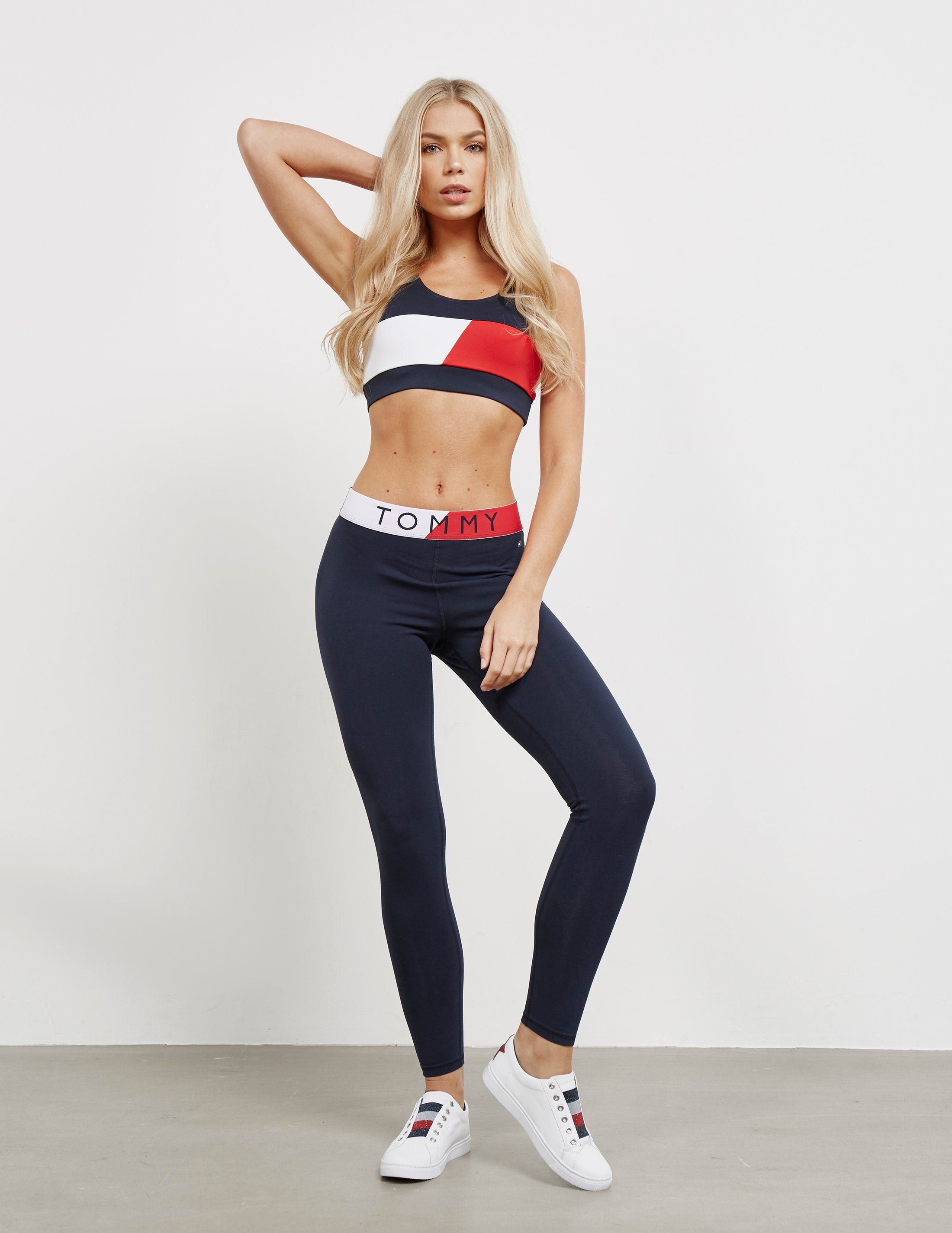 Tommy Hilfiger Colour Blocked Waistband Leggings