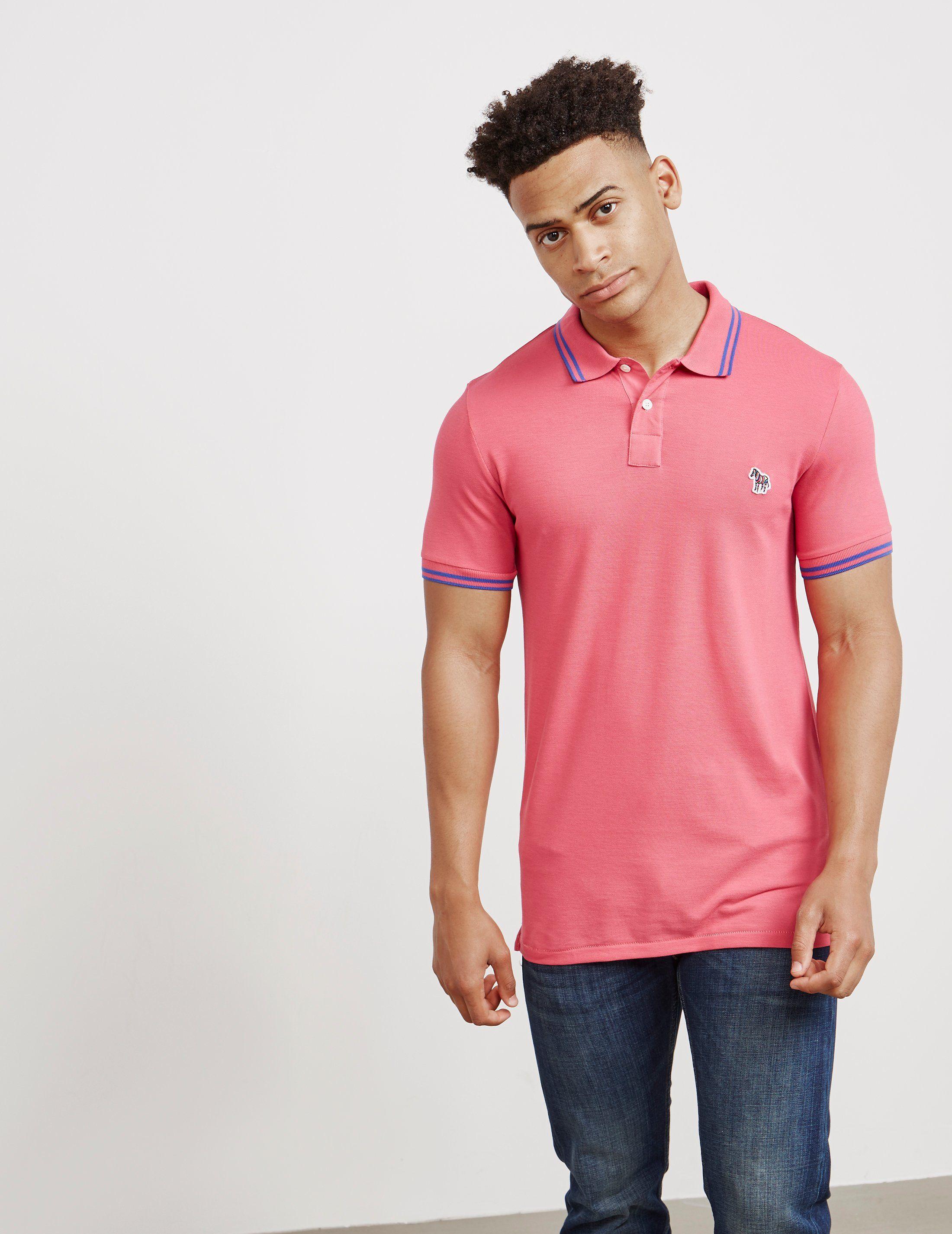 PS Paul Smith Tipped Zebra Short Sleeve Polo Shirt