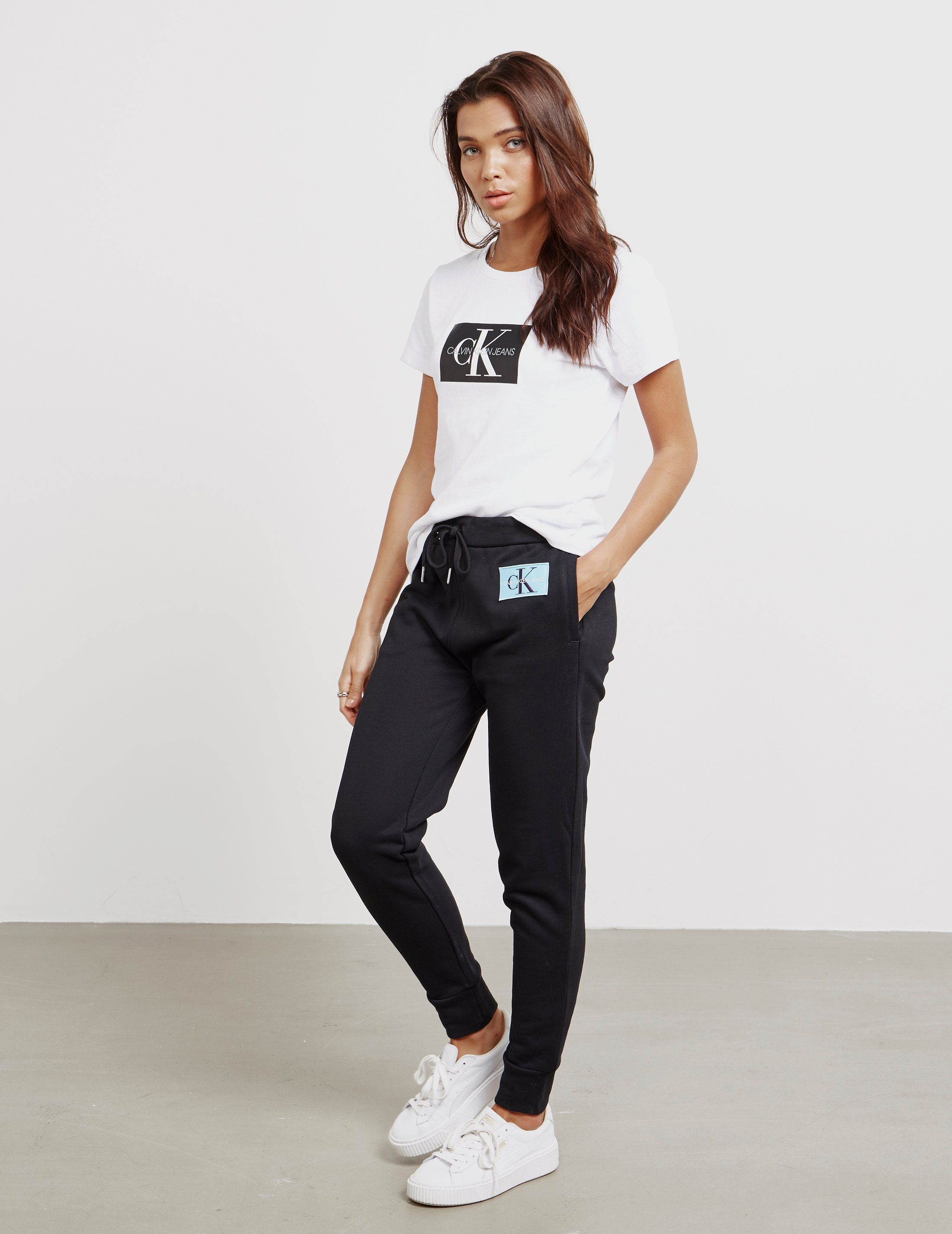 Calvin Klein Jeans Patch Logo Track Bottoms