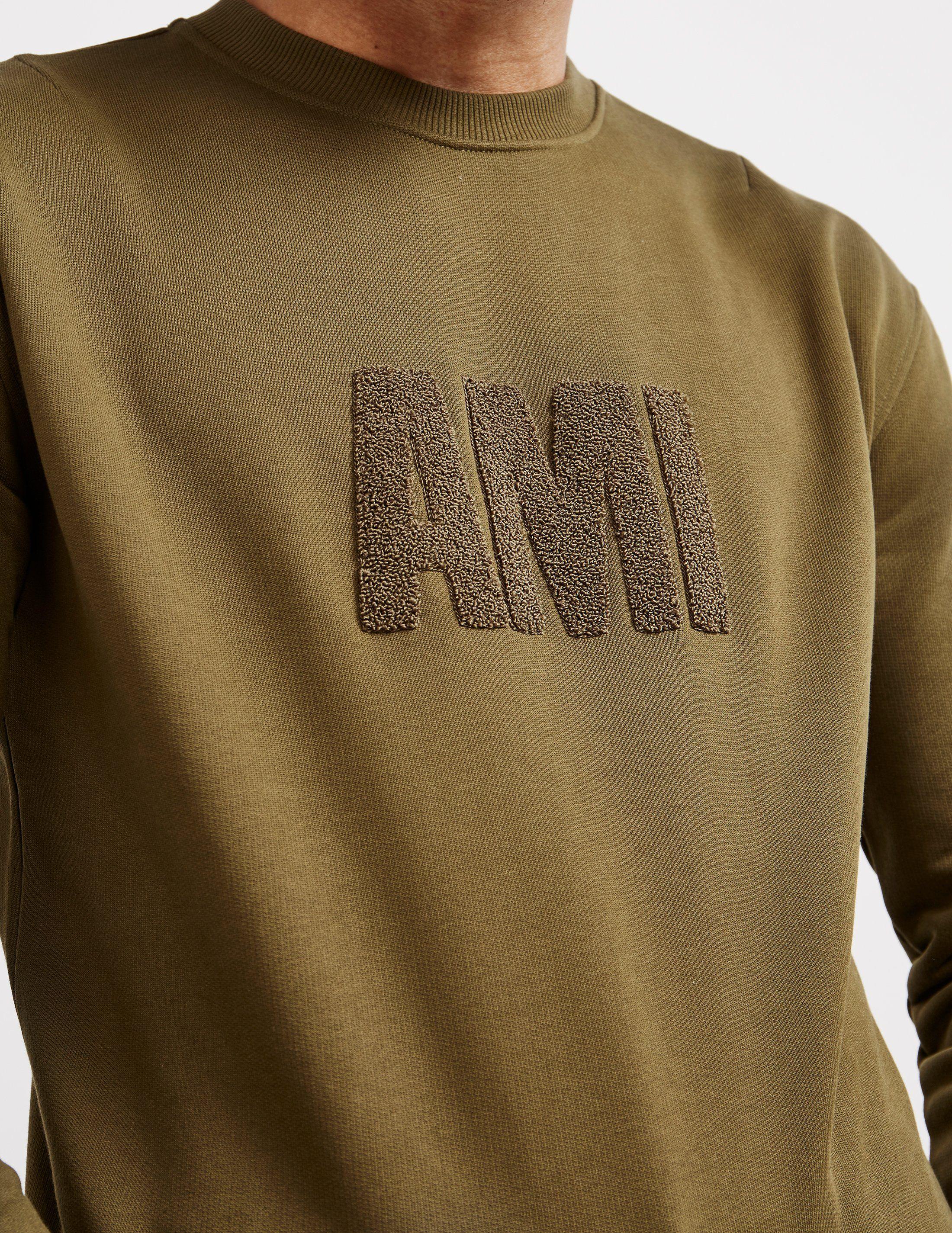 AMI Paris Chenille Logo Sweatshirt