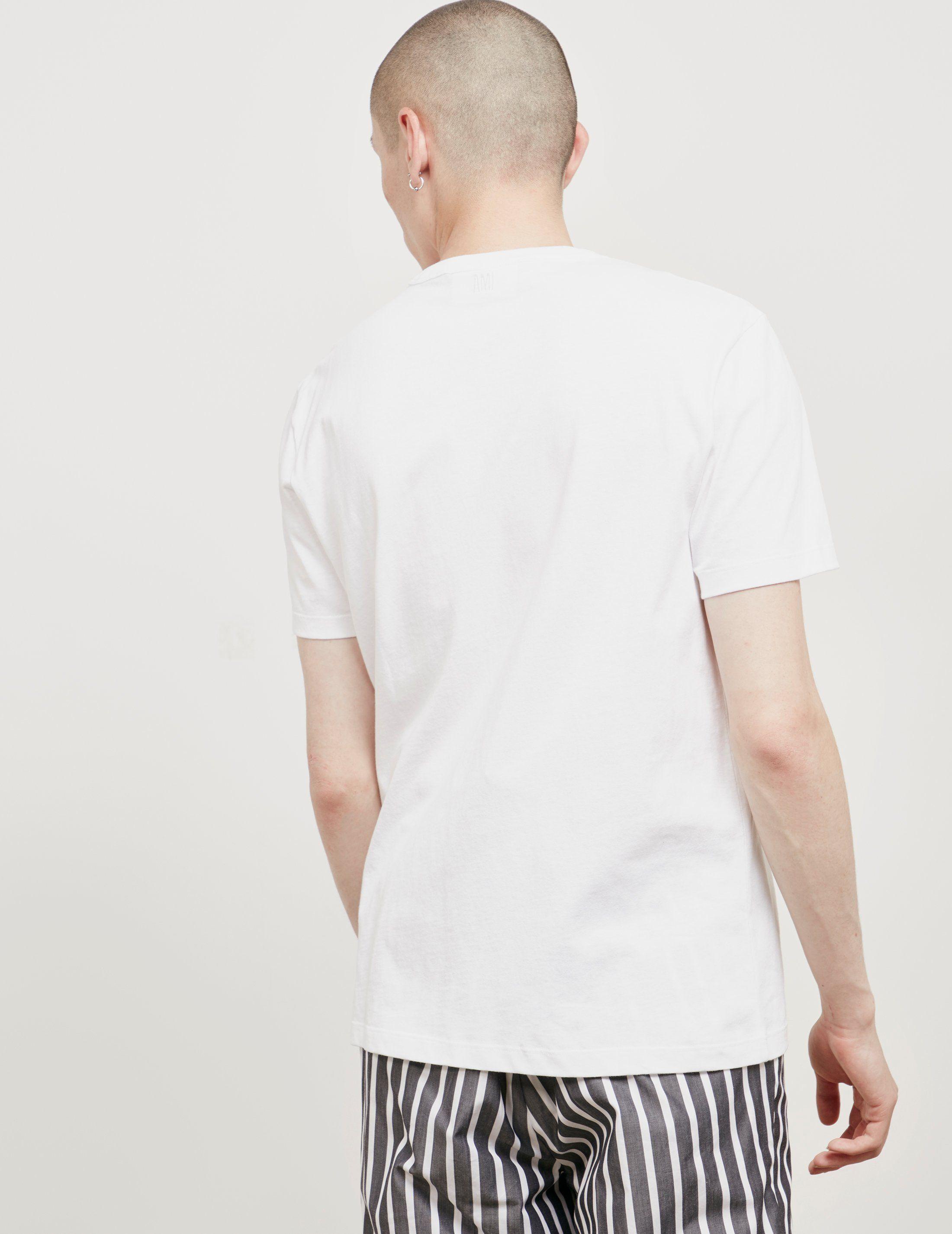 AMI Paris Here Short Sleeve T-Shirt - Online Exclusive