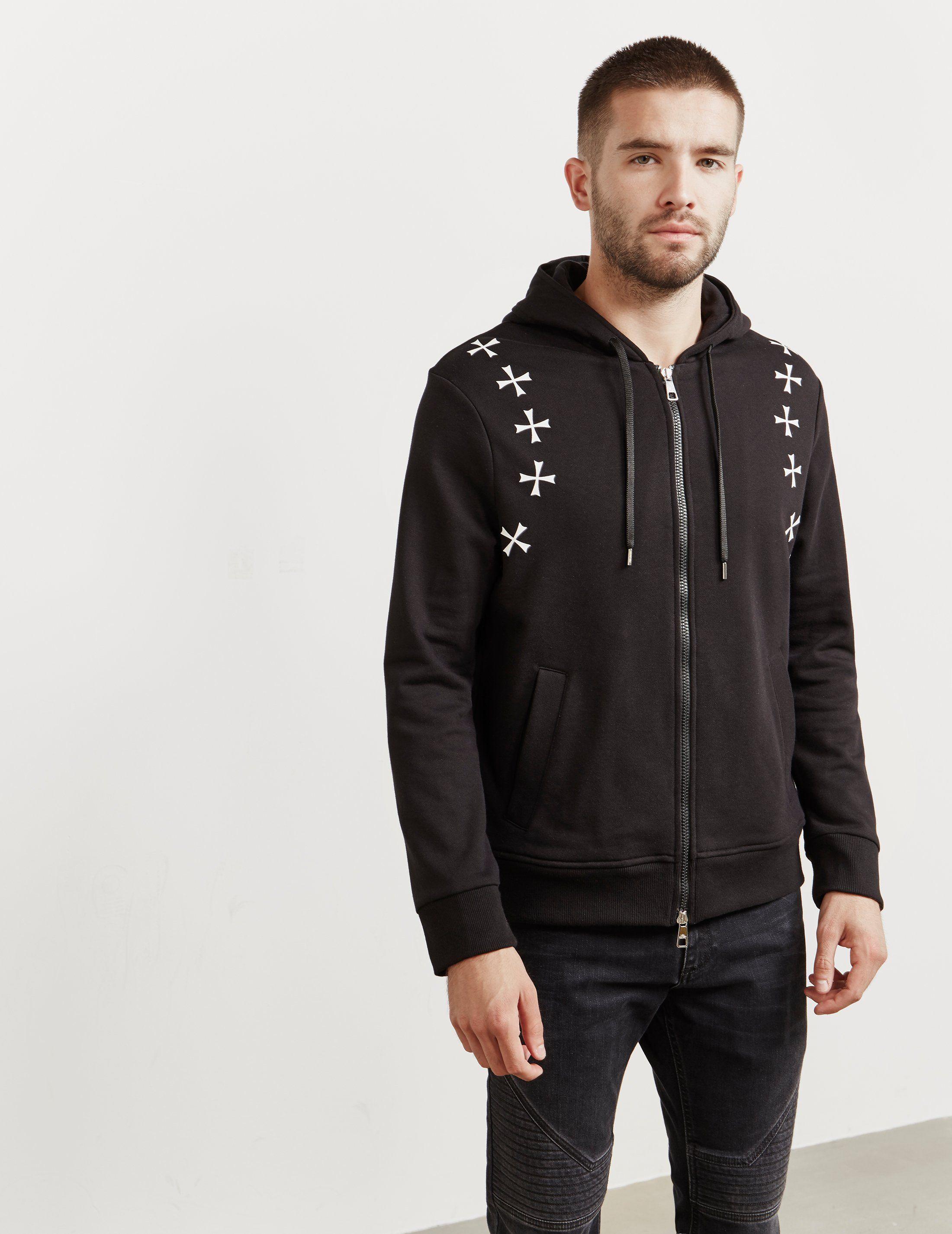 Neil Barrett Military Star Zip Through Hoodie