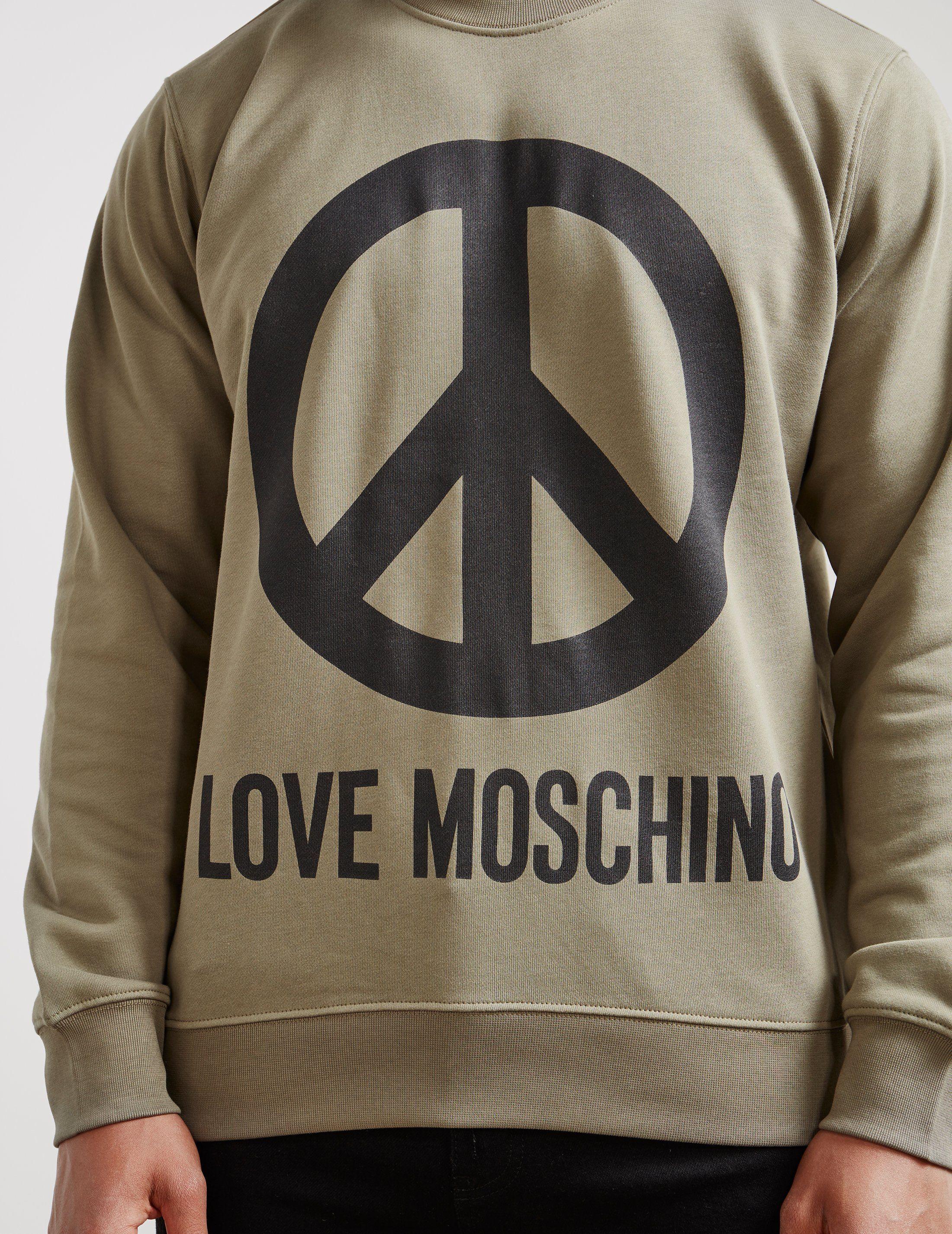 Love Moschino Large Peace Sweatshirt