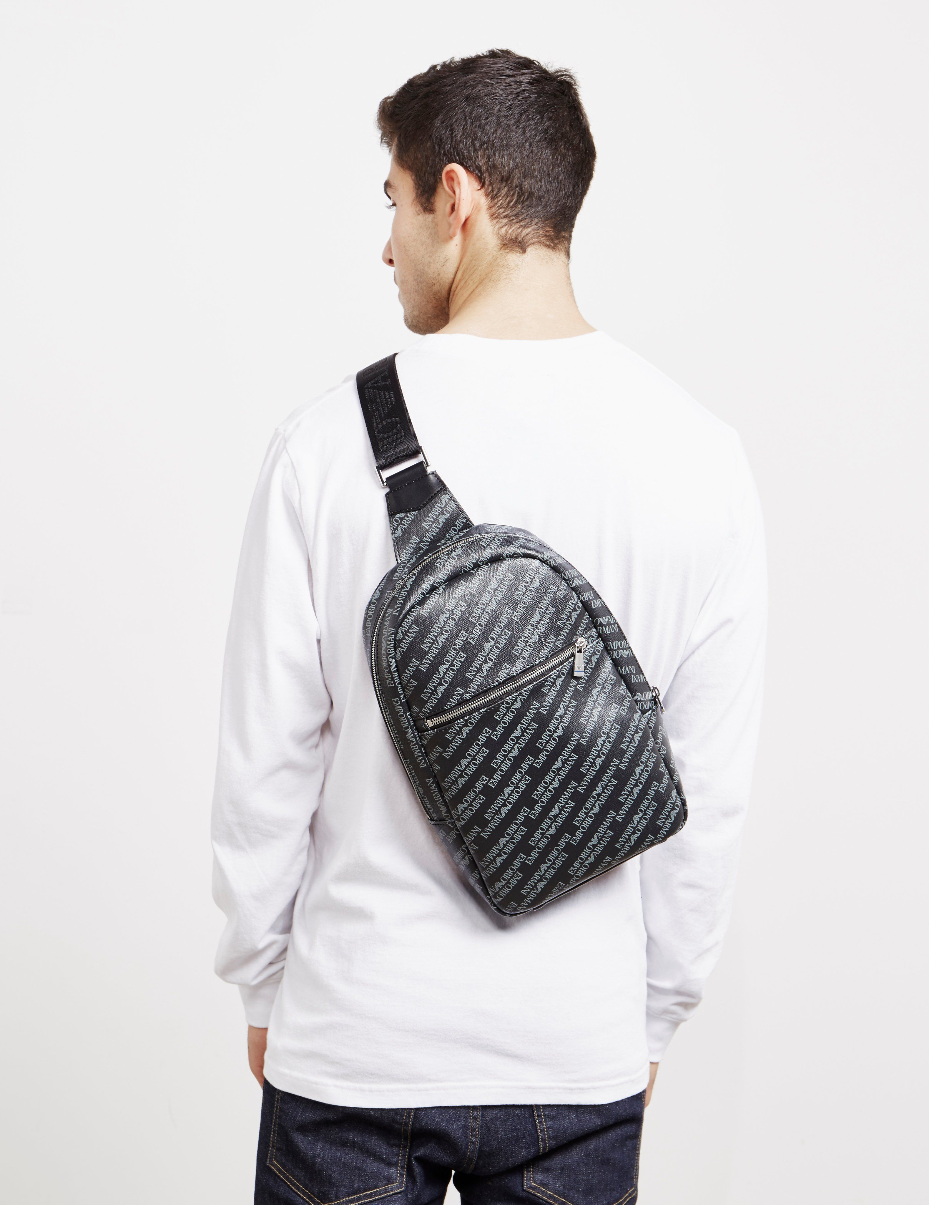 Emporio Armani All Over Print Backpack