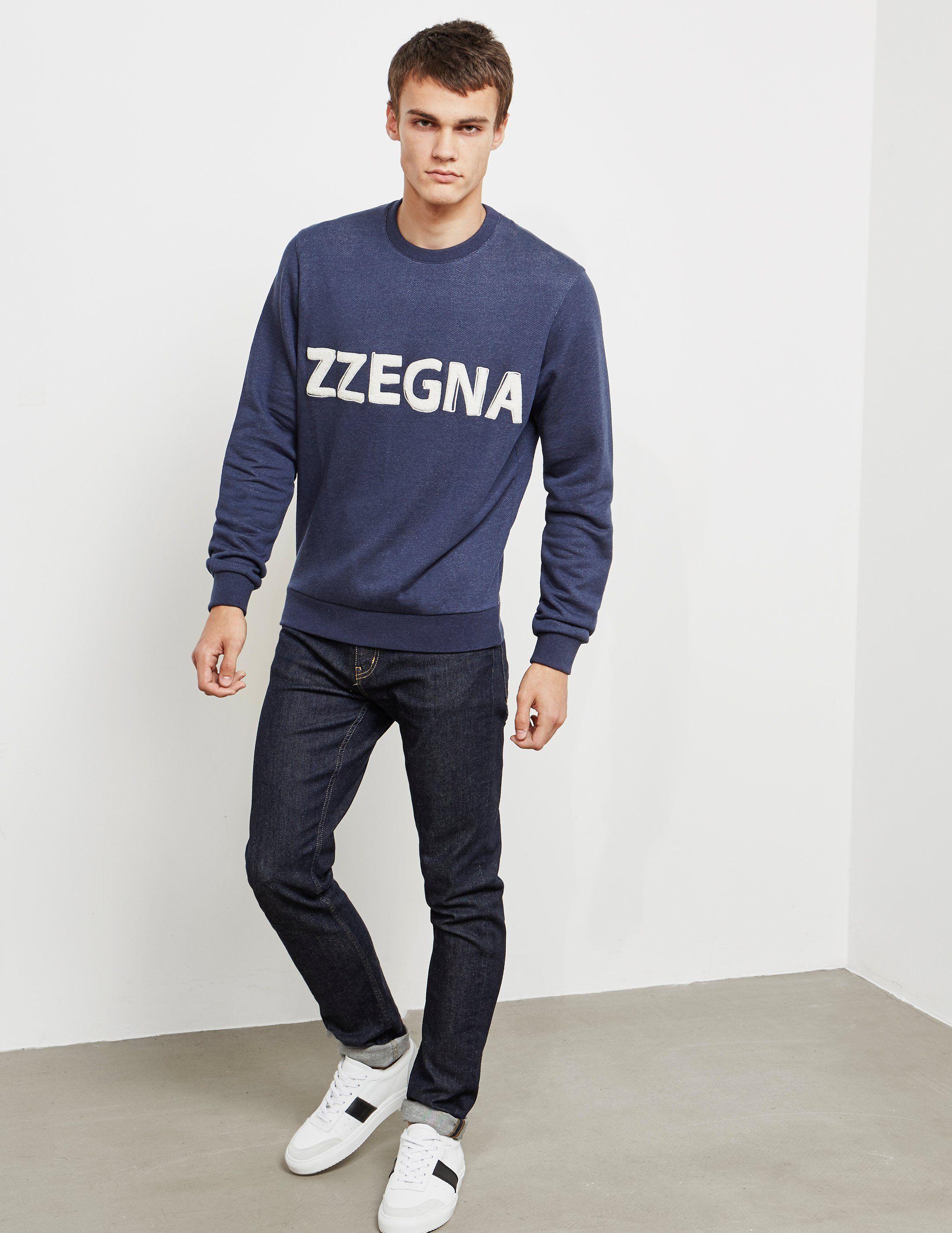 Z Zegna Flocked Logo Sweatshirt