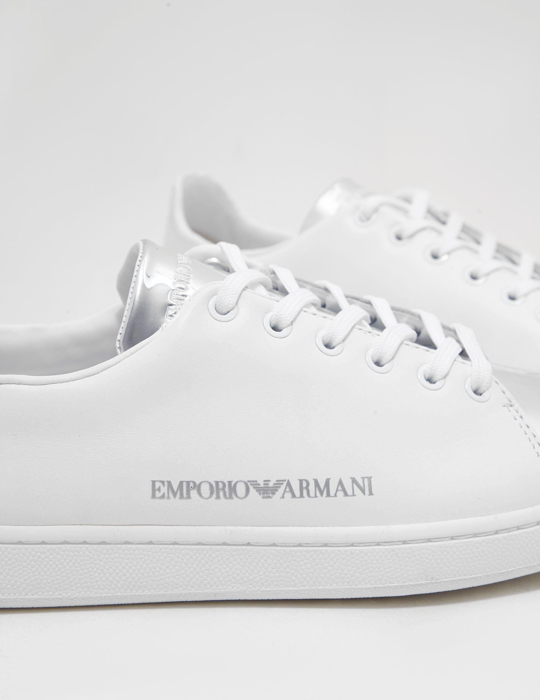 Emporio Armani Mirror Toe Trainers