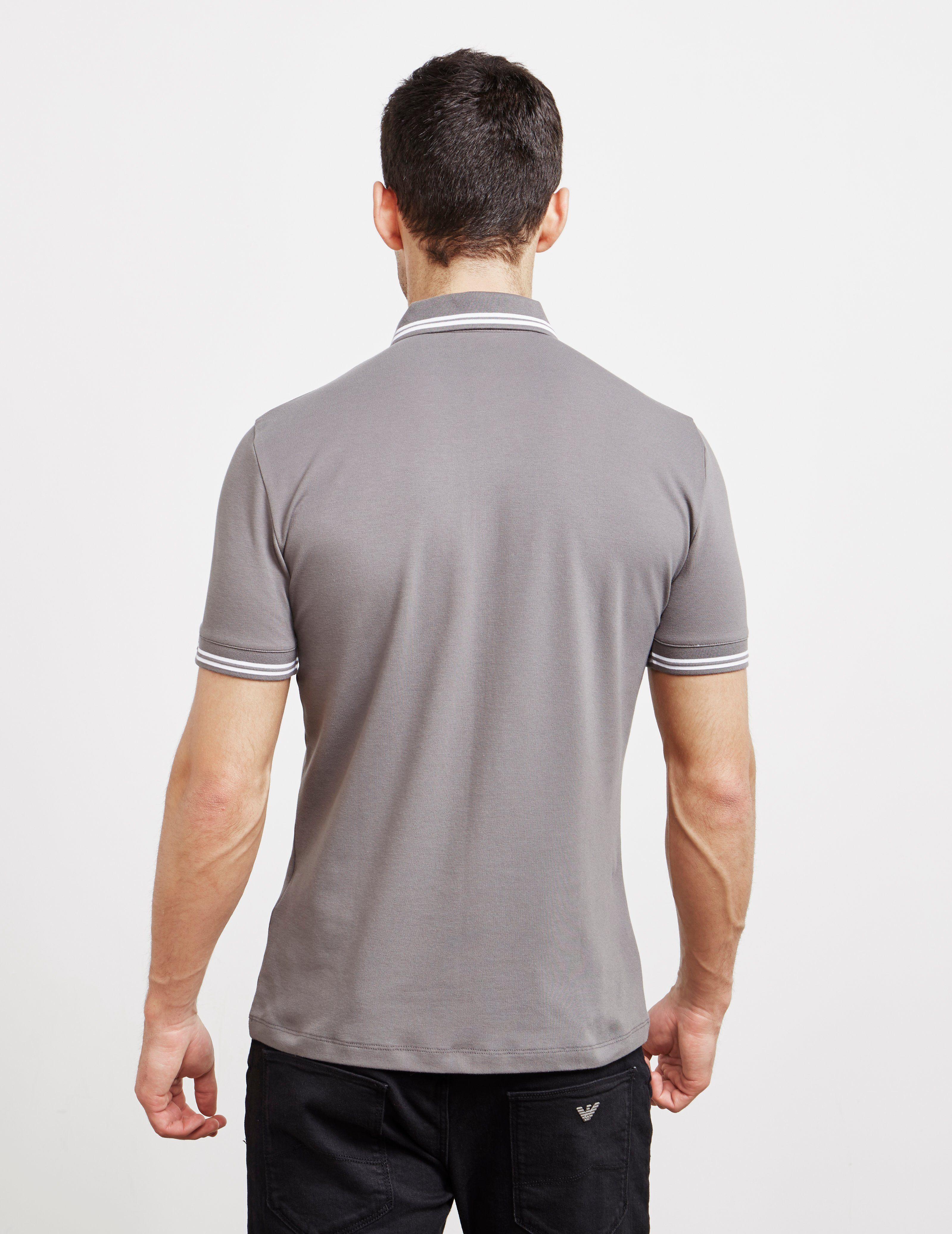 Emporio Armani Tipped Badge Short Sleeve Polo Shirt