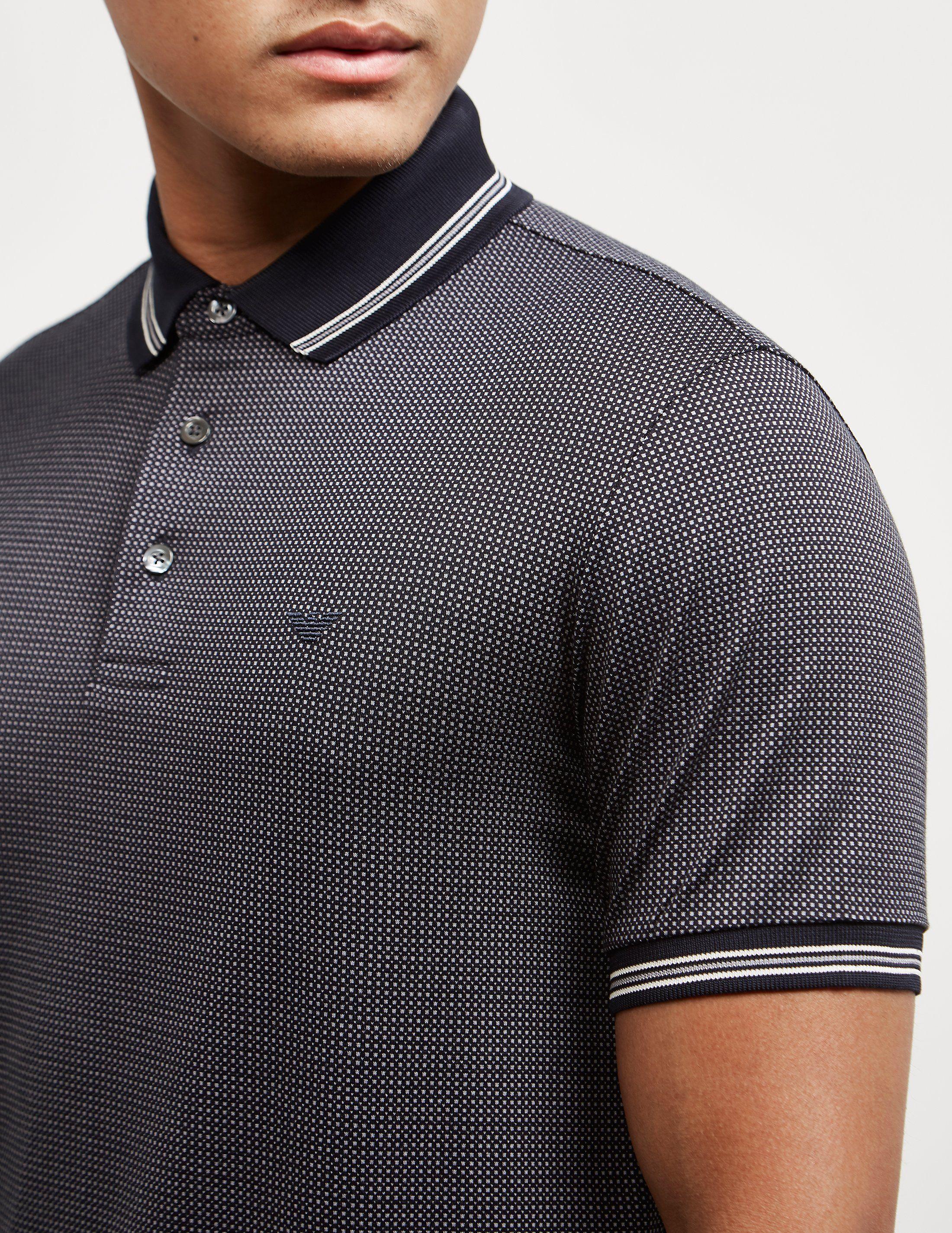 Emporio Armani Spots Short Sleeve Polo Shirt