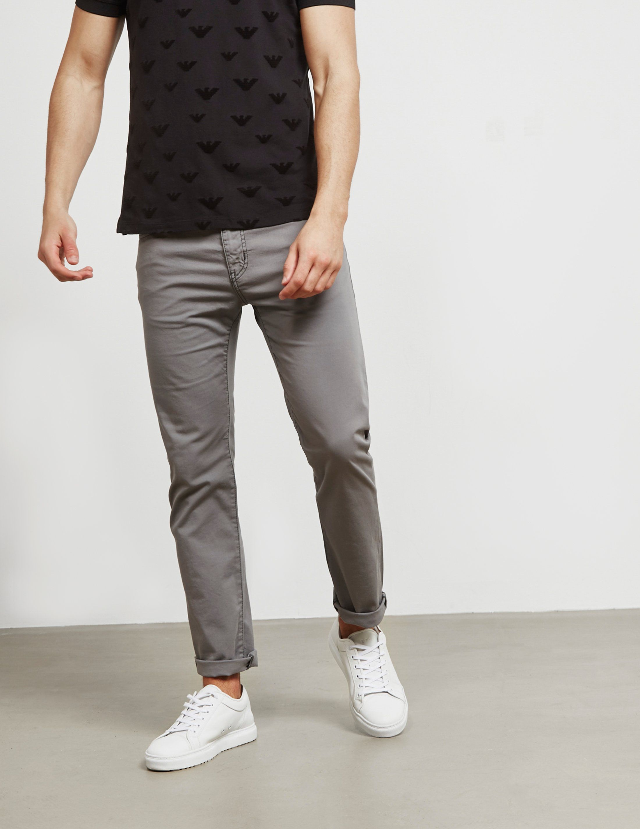 Emporio Armani Straight Leg Trousers
