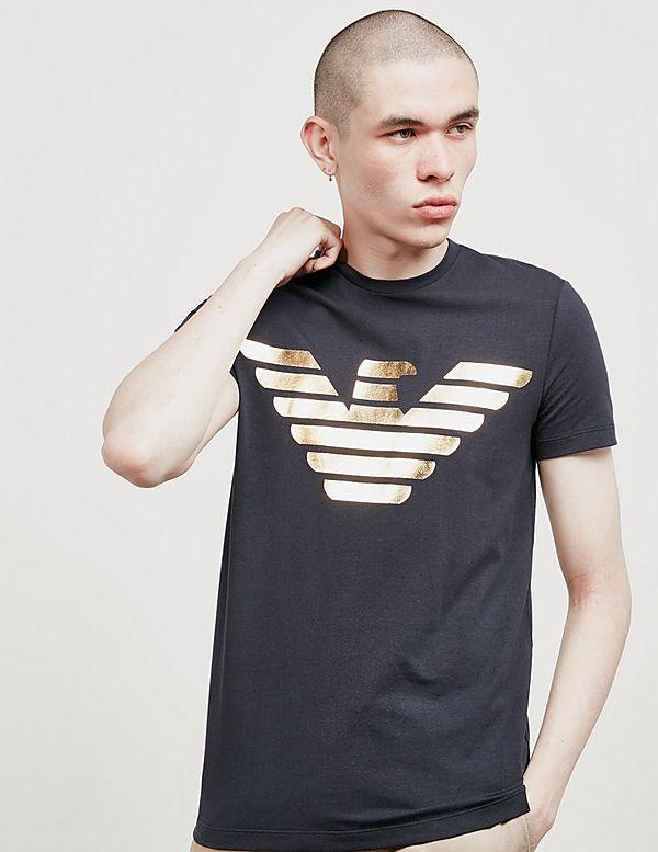 24a97dfbd9c3d2 Emporio Armani Foil Eagle Short Sleeve T-Shirt