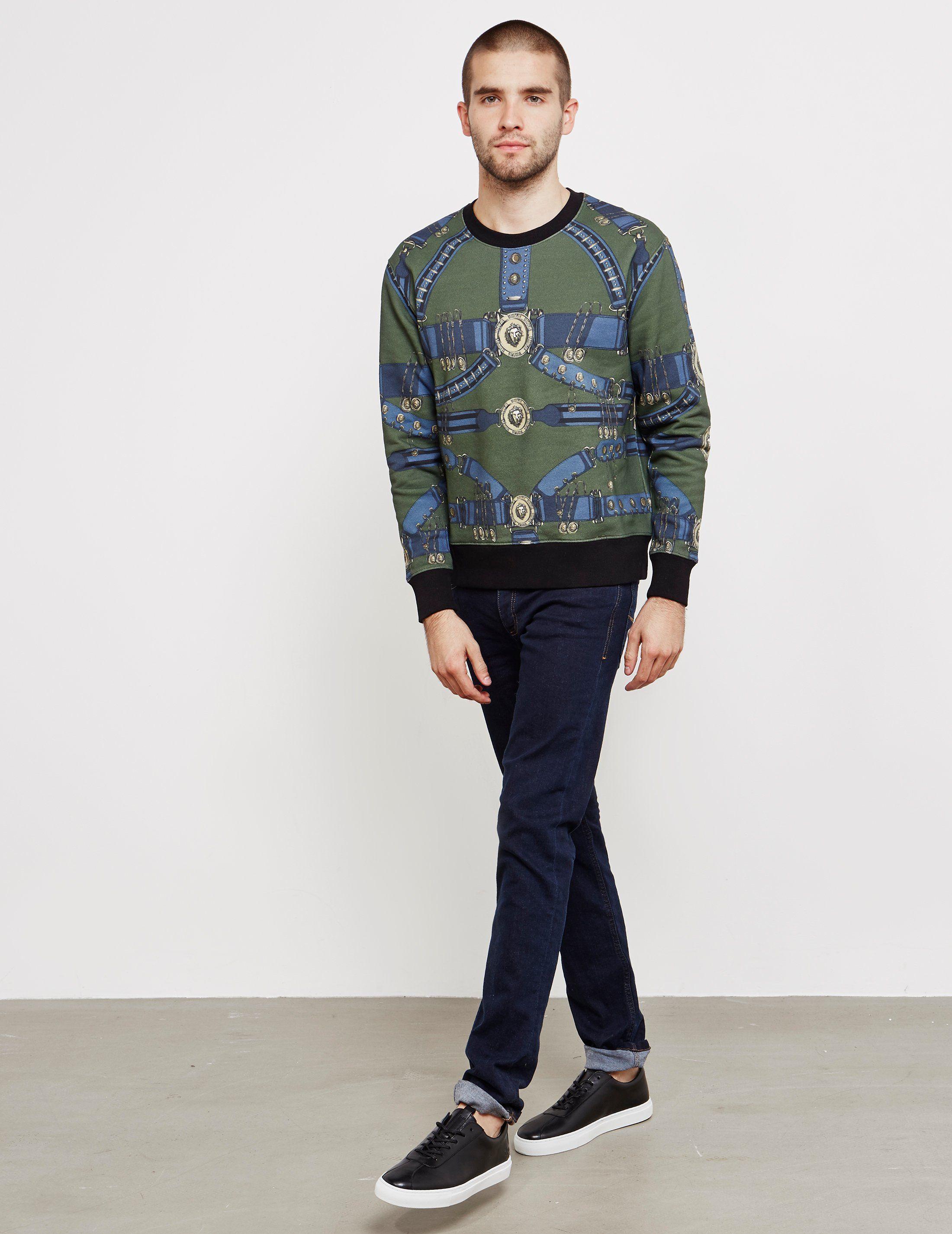 Versus Versace Lion All Over Print Sweatshirt - Online Exclusive