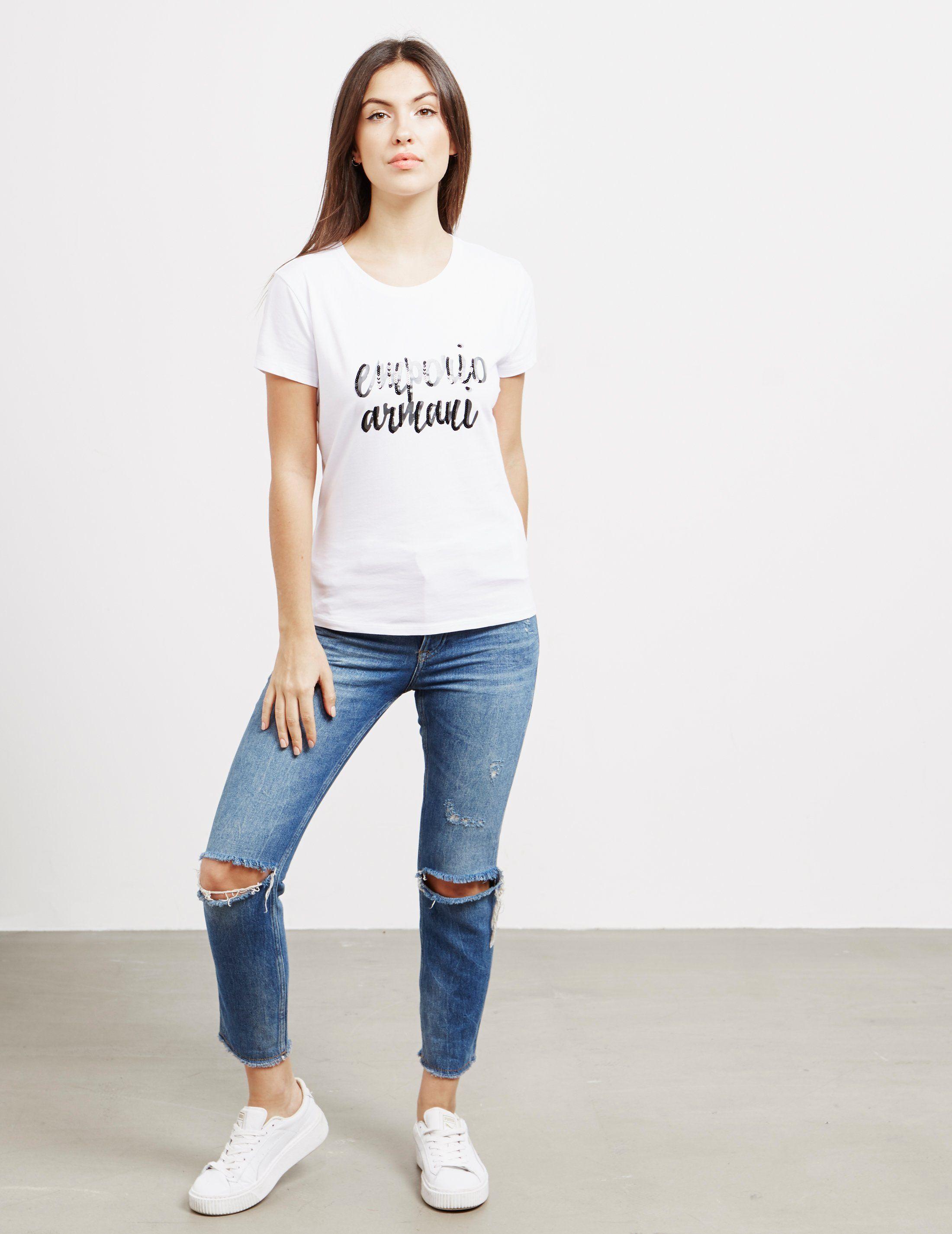 Emporio Armani Script Logo Short Sleeve T-Shirt