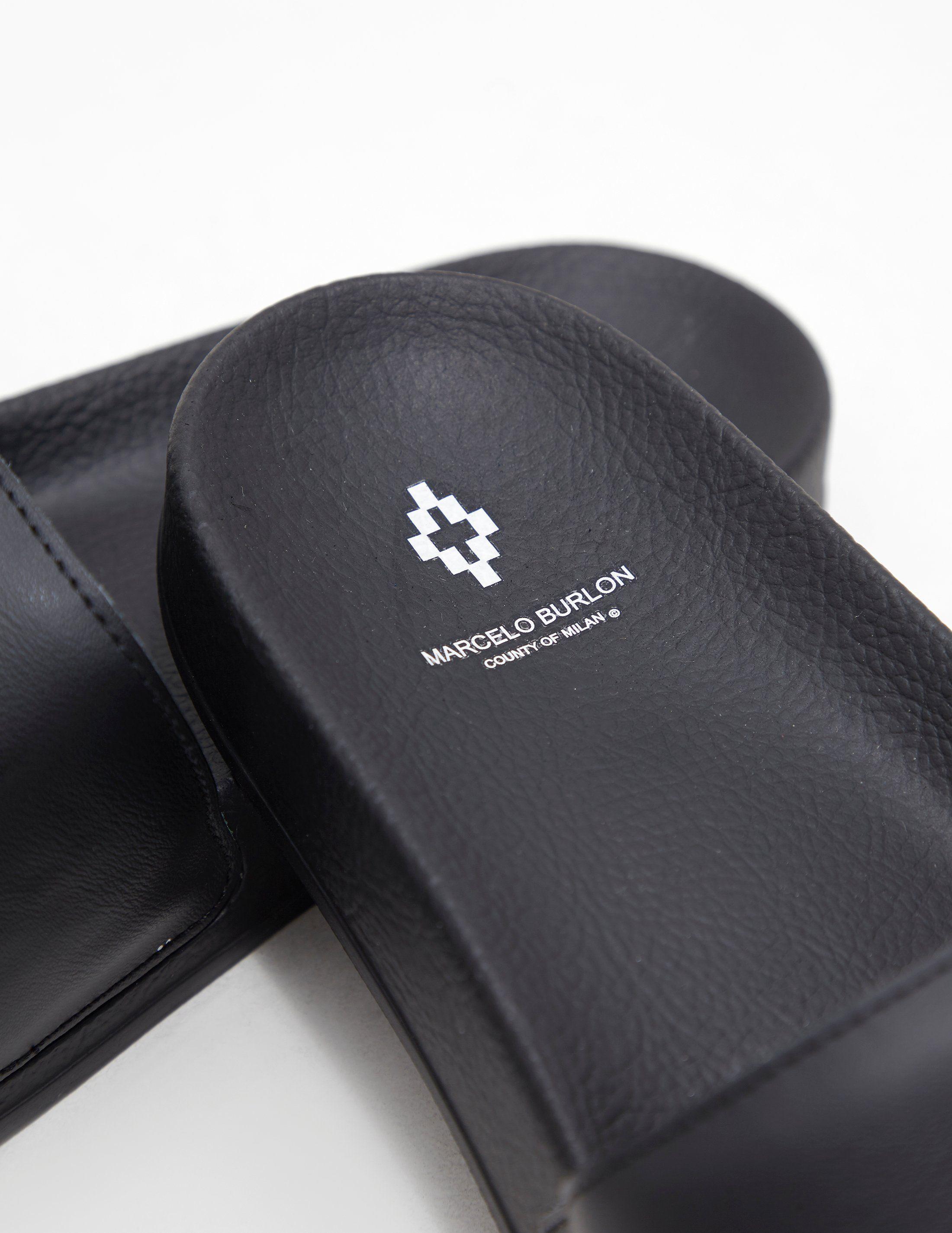 Marcelo Burlon Logo Slides - Online Exclusive