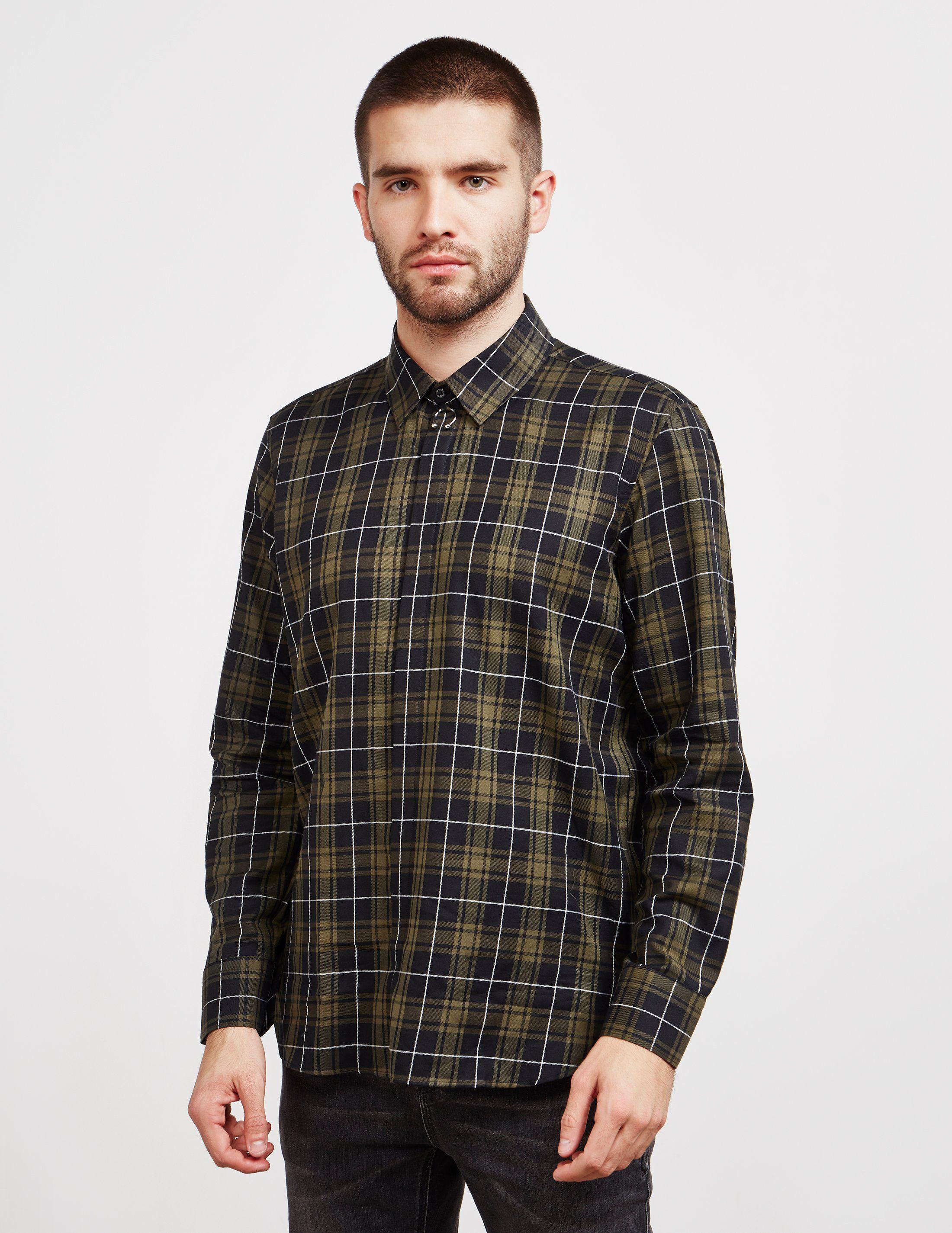 Neil Barrett Tartan Long Sleeve Shirt - Online Exclusive