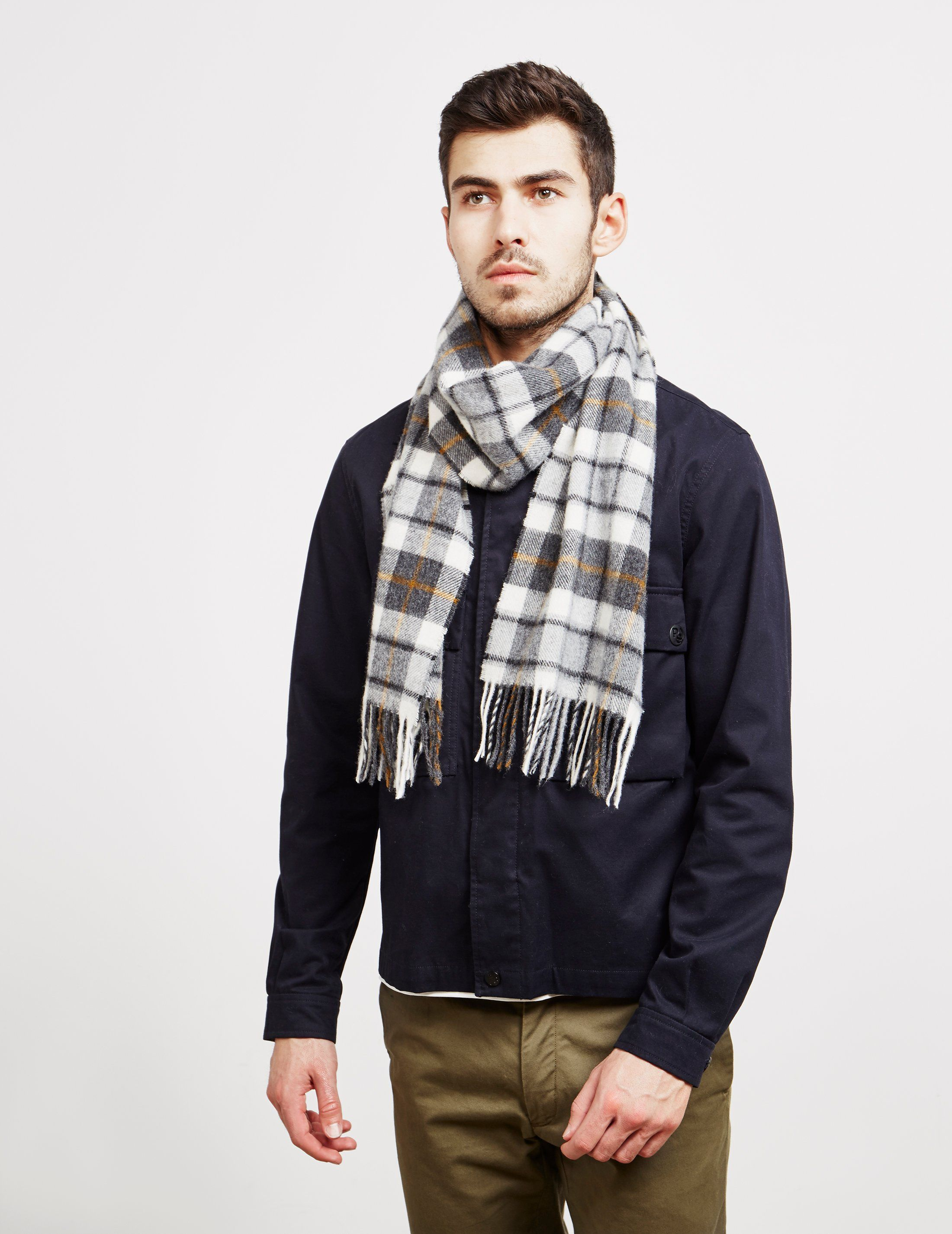 Barbour International Lambswool Check Scarf