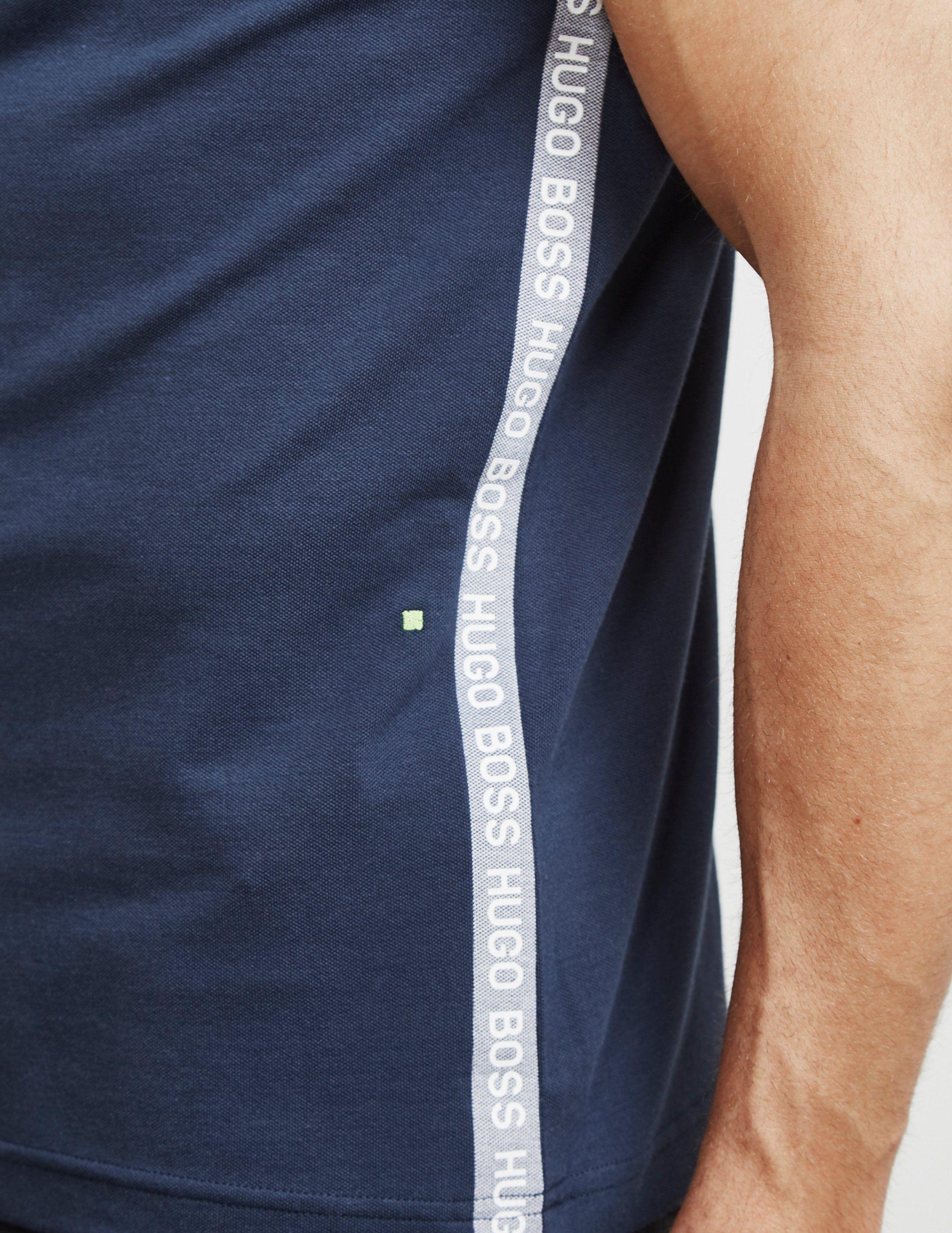 BOSS Paule Panel Short Sleeve Polo Shirt