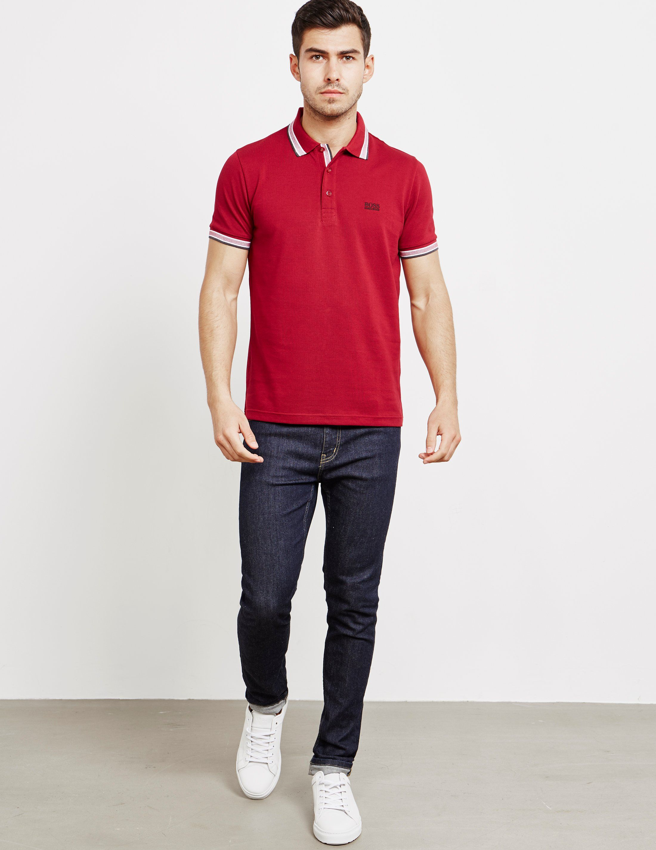 BOSS Tipped Paddy Short Sleeve Polo Shirt