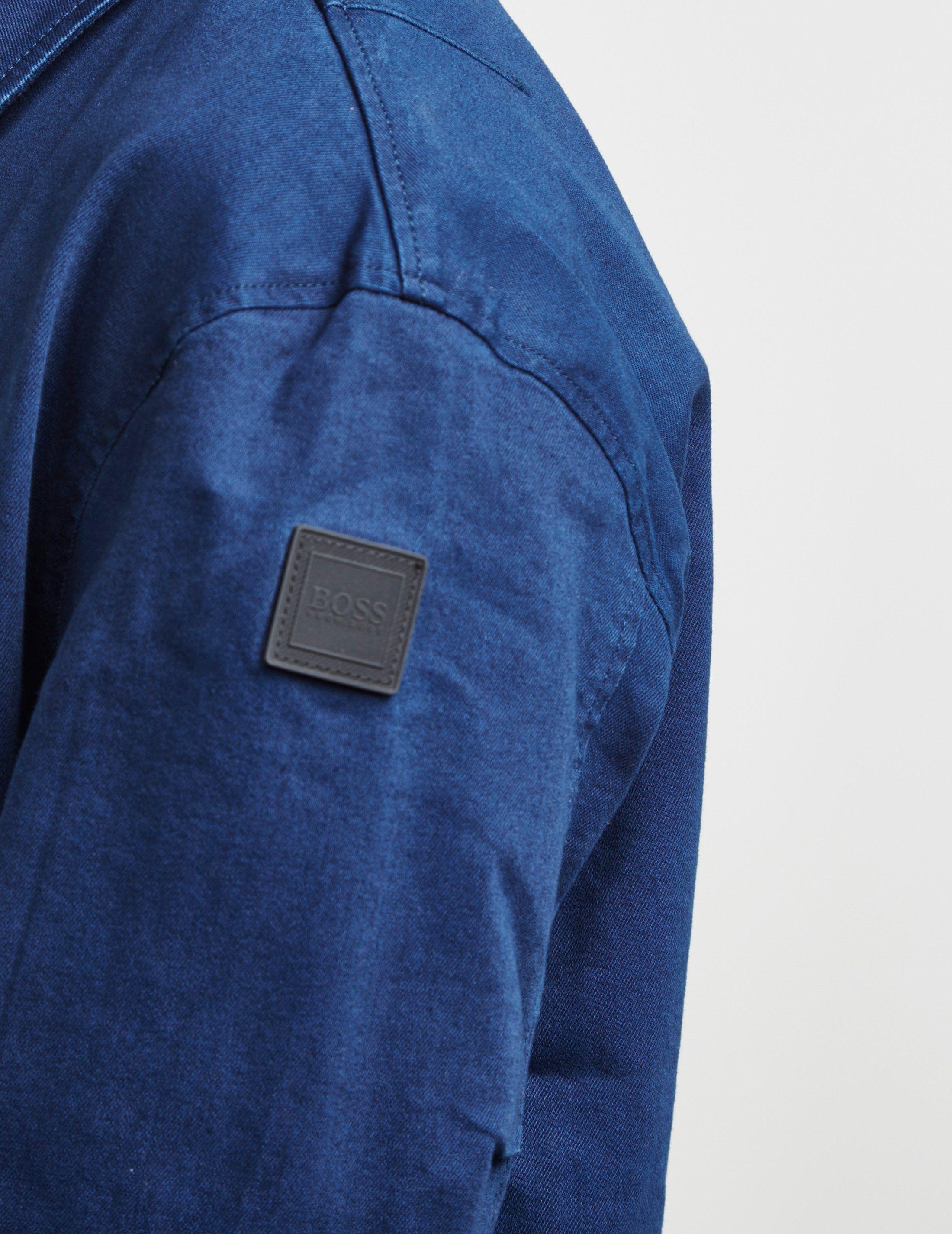 BOSS Leeds Button Through Lightweight Jacket