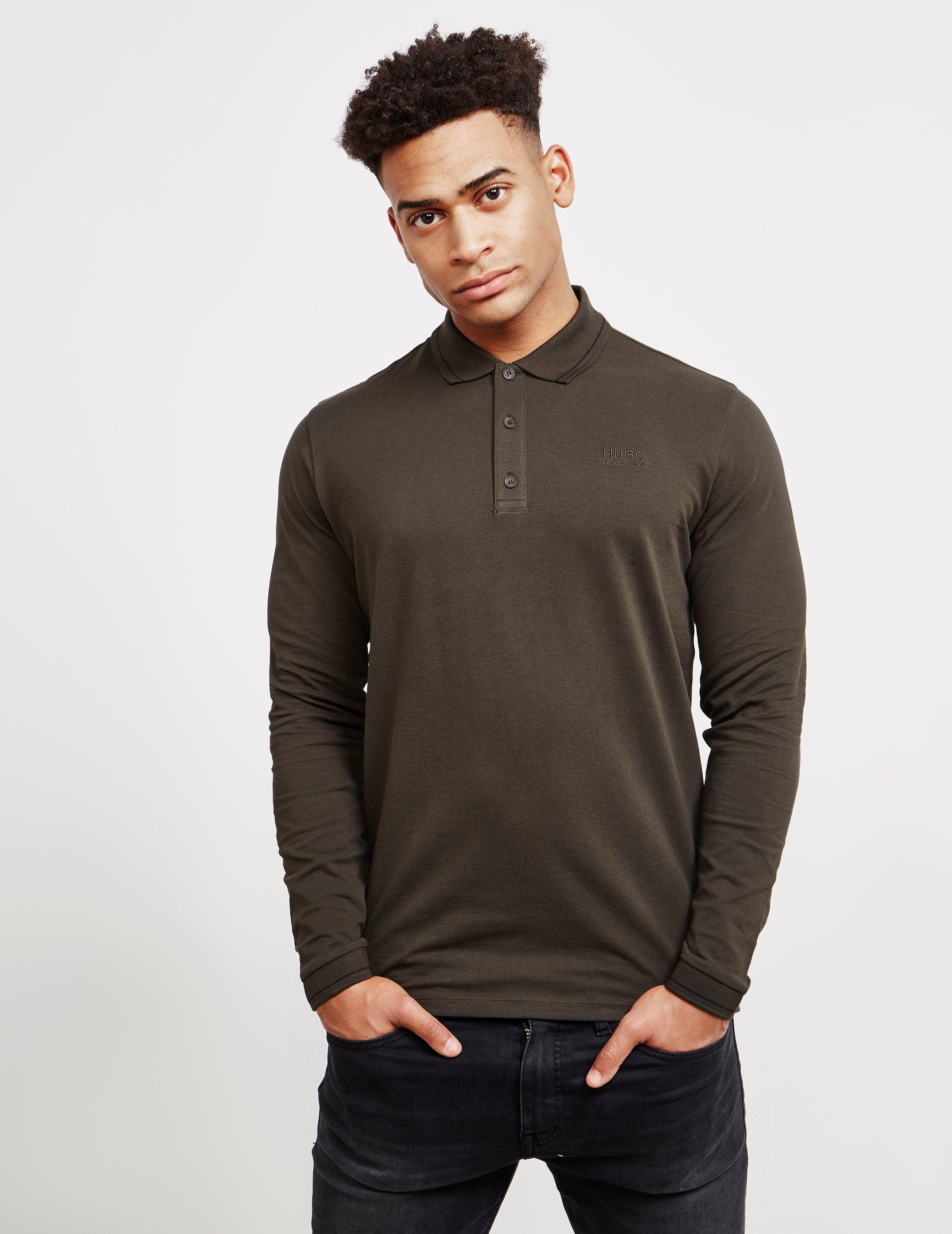 HUGO Denol Long Sleeve Polo Shirt