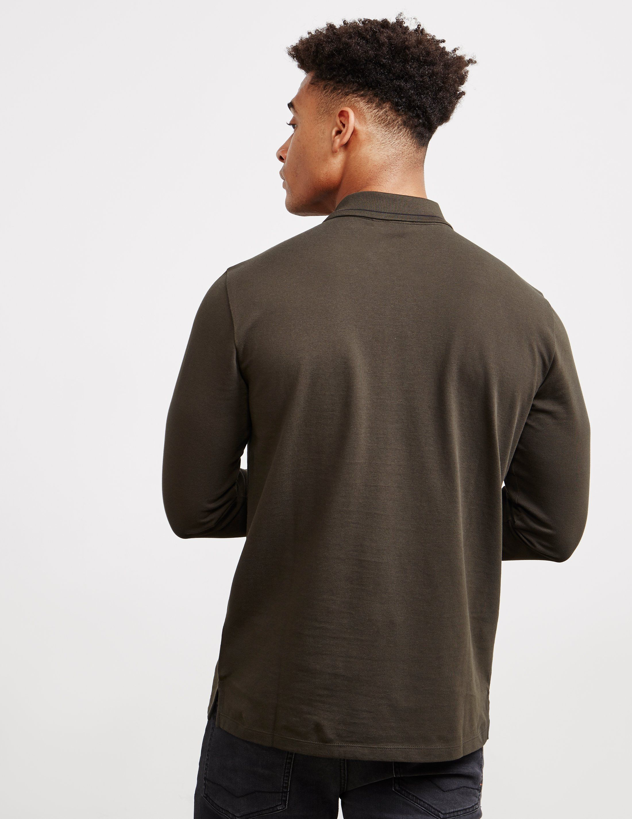 HUGO Denol Long Sleeve Polo Shirt