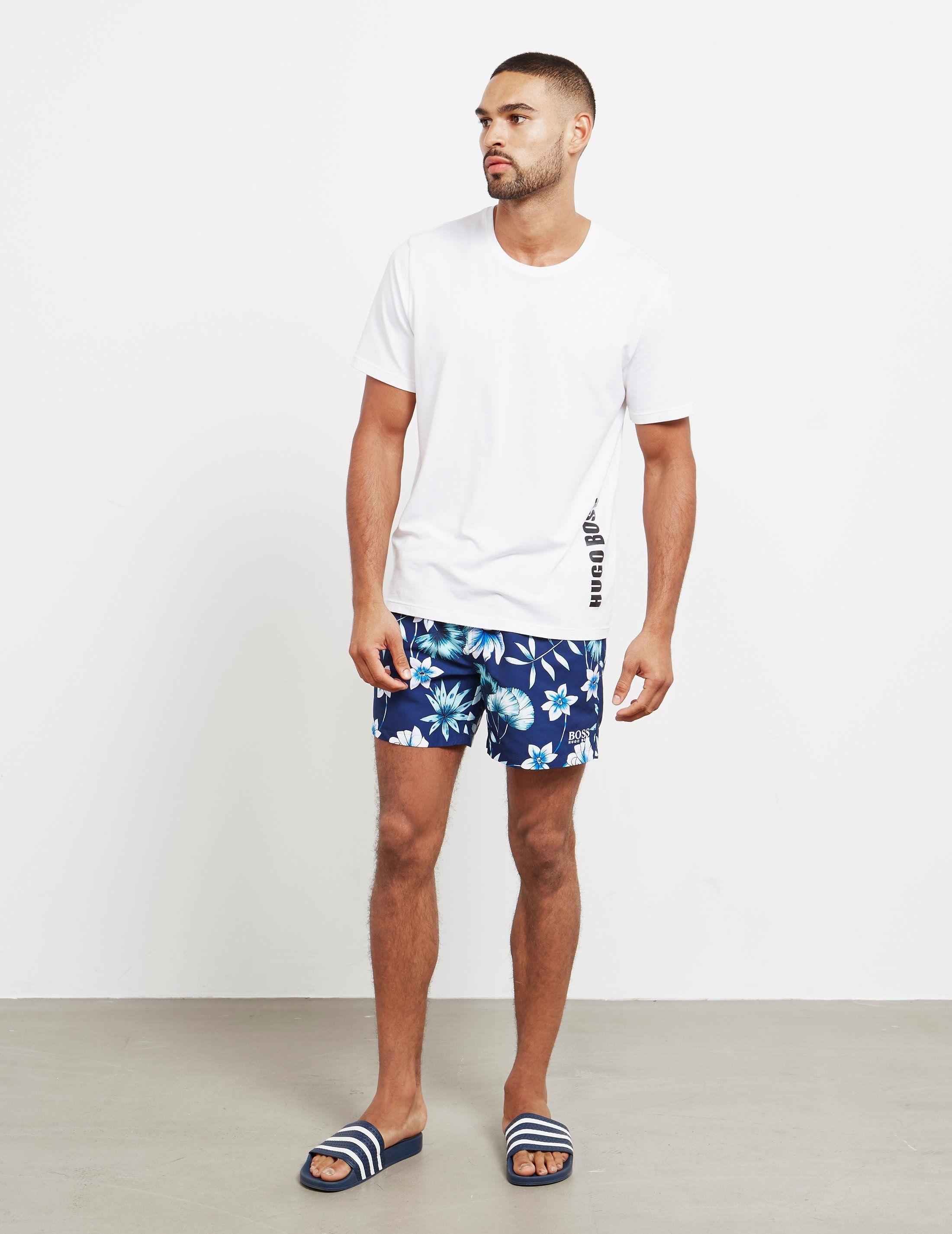 BOSS Floral Swim Shorts
