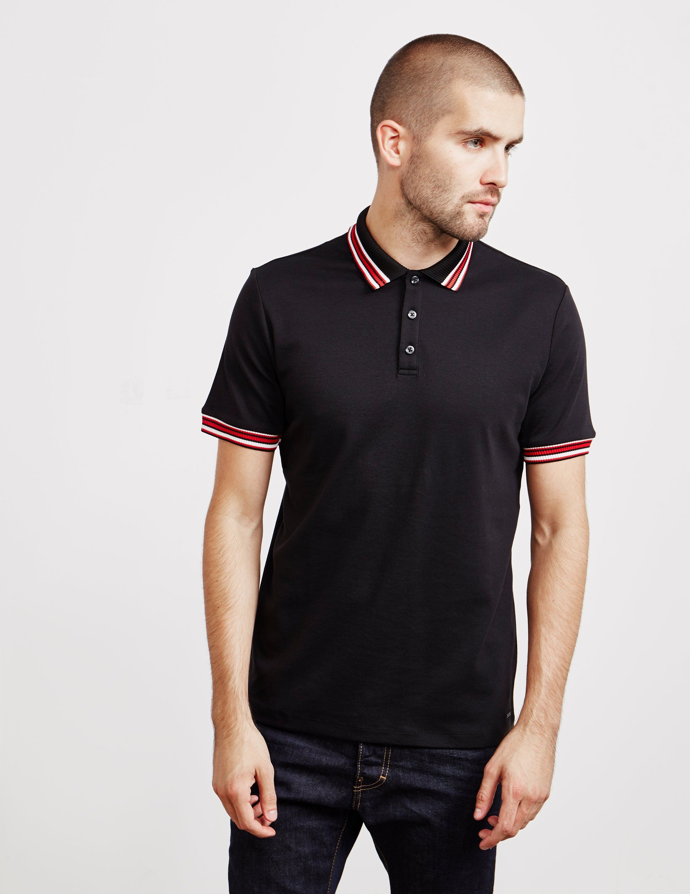 HUGO Tipping Short Sleeve Polo Shirt - Online Exclusive